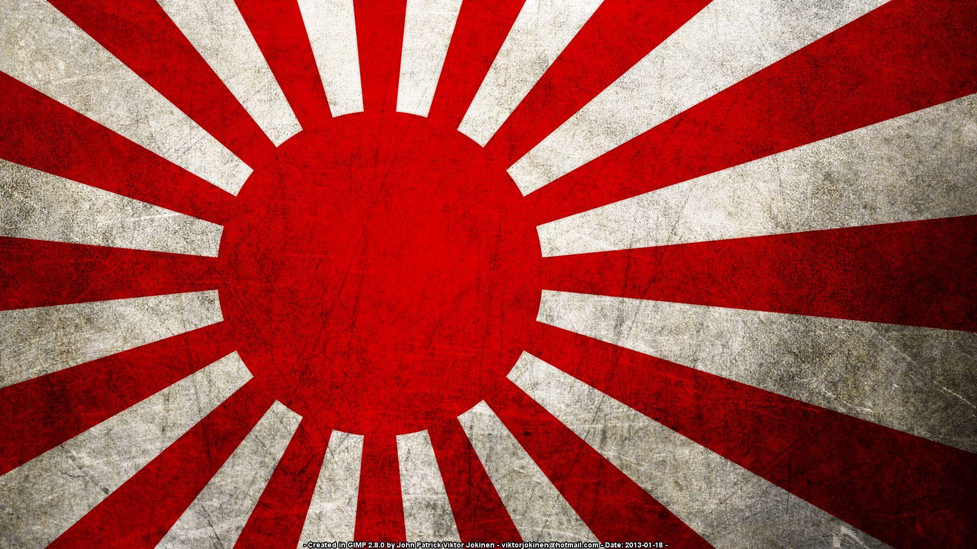 1920x1080 Japan Rising Sun Flag Hình nền HD