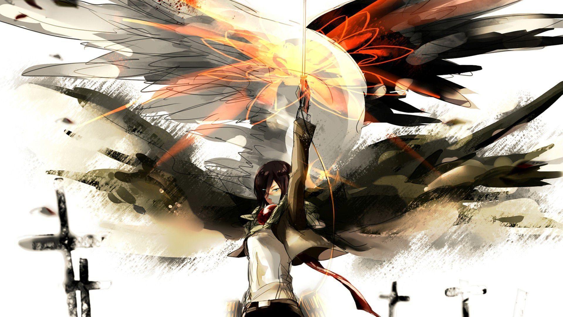 1920x1080 Titan Mikasa Hình nền.  Hình nền tàu chiến Mikasa, Hình nền Mikasa Ackerman thông thường và Hình nền bóng chuyền Mikasa
