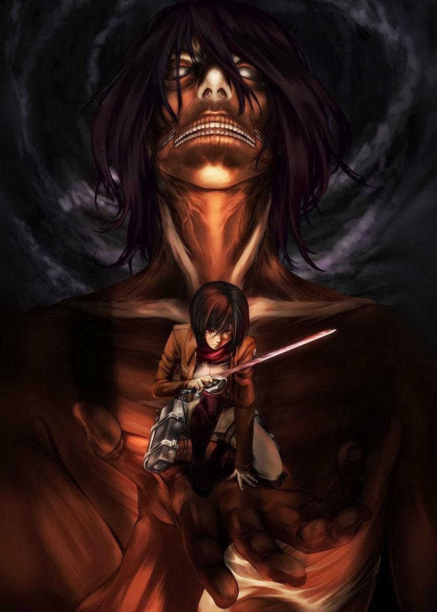 858x1200 Attack on Wallpaper Titans cho Android