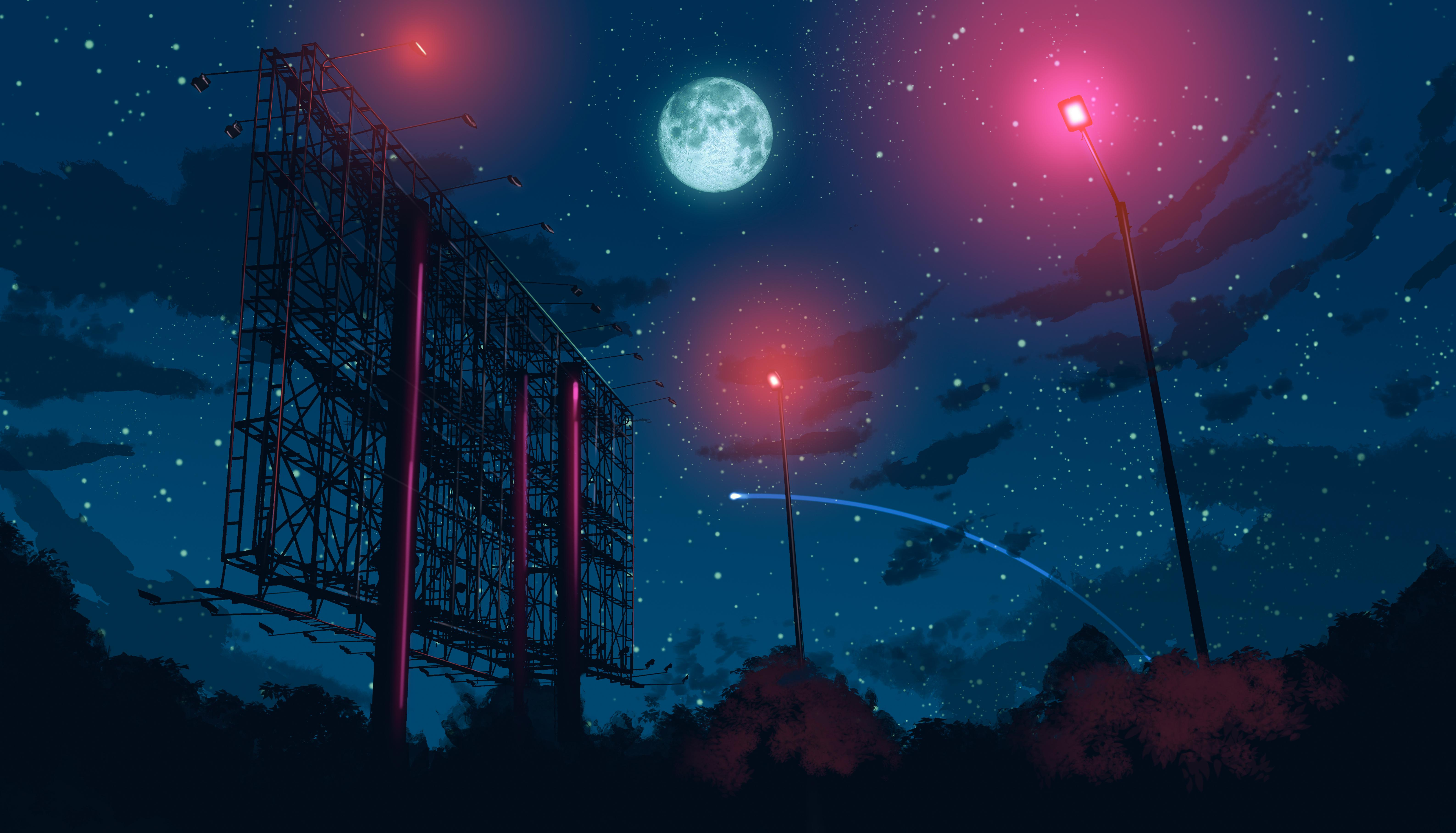 Night Sky Anime Wallpapers Top Free Night Sky Anime Backgrounds Wallpaperaccess