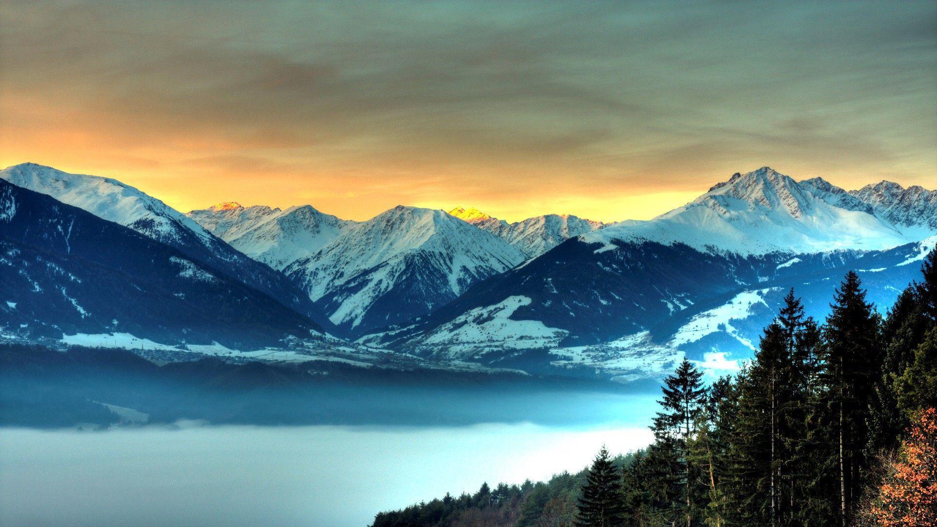 Hình nền và hình ảnh dãy núi đẹp 1920x1080 HD.  Phong cảnh HD
