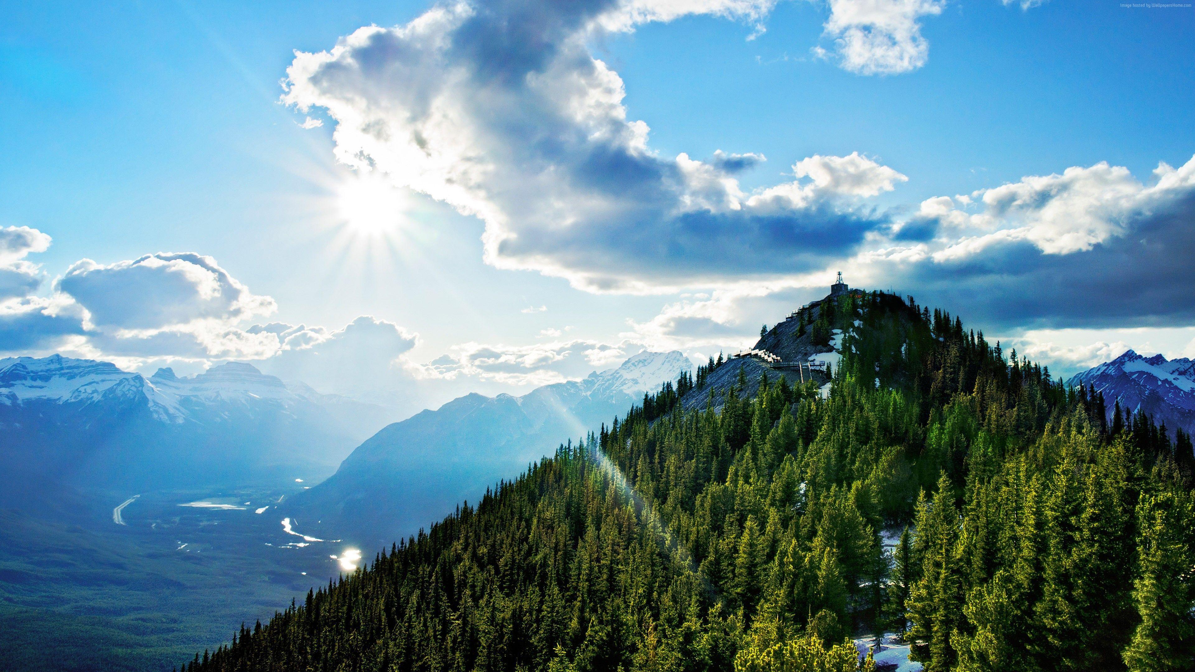 3840x2160 Hình nền Núi lưu huỳnh, 4k, Hình nền có độ phân giải cao, Canada, Đám mây, Thiên nhiên