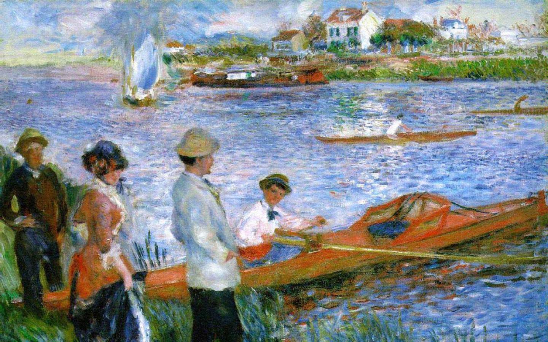 1440x900 Nghệ sĩ xuất sắc nhất - Auguste Renoir - Oarsmen at Chatou Hình nền 1440x900