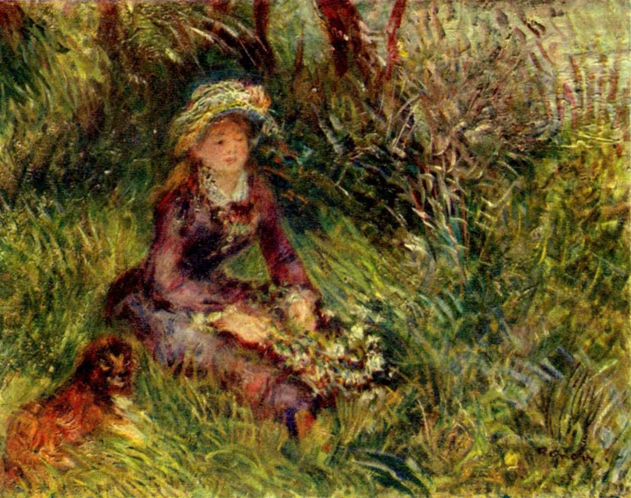 Hình nền nghệ thuật nổi tiếng 1256x992 .. Bởi Renoir.  Những bức tranh nghệ thuật nổi tiếng