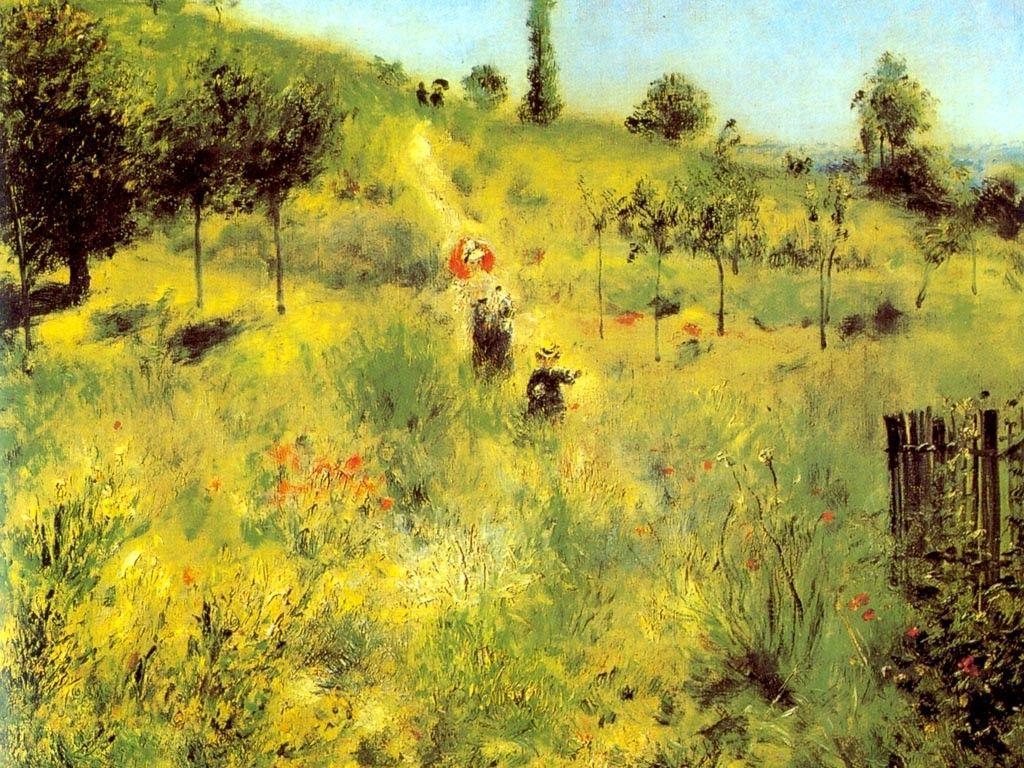 1024x768 Hình nền miễn phí của tôi - Hình nền nghệ thuật: Renoir