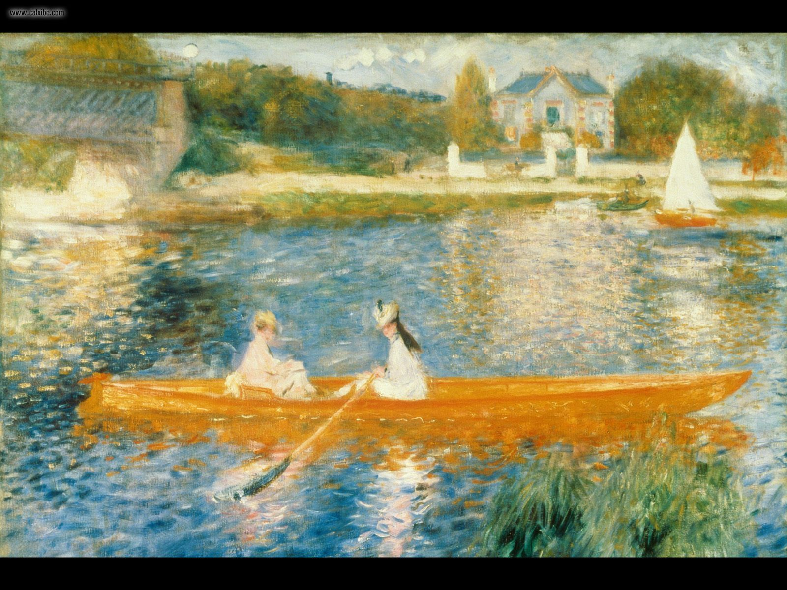 1600x1200 Vẽ & Tranh: Sông Seine ở Asnieres Renoir, hình nr.  20851