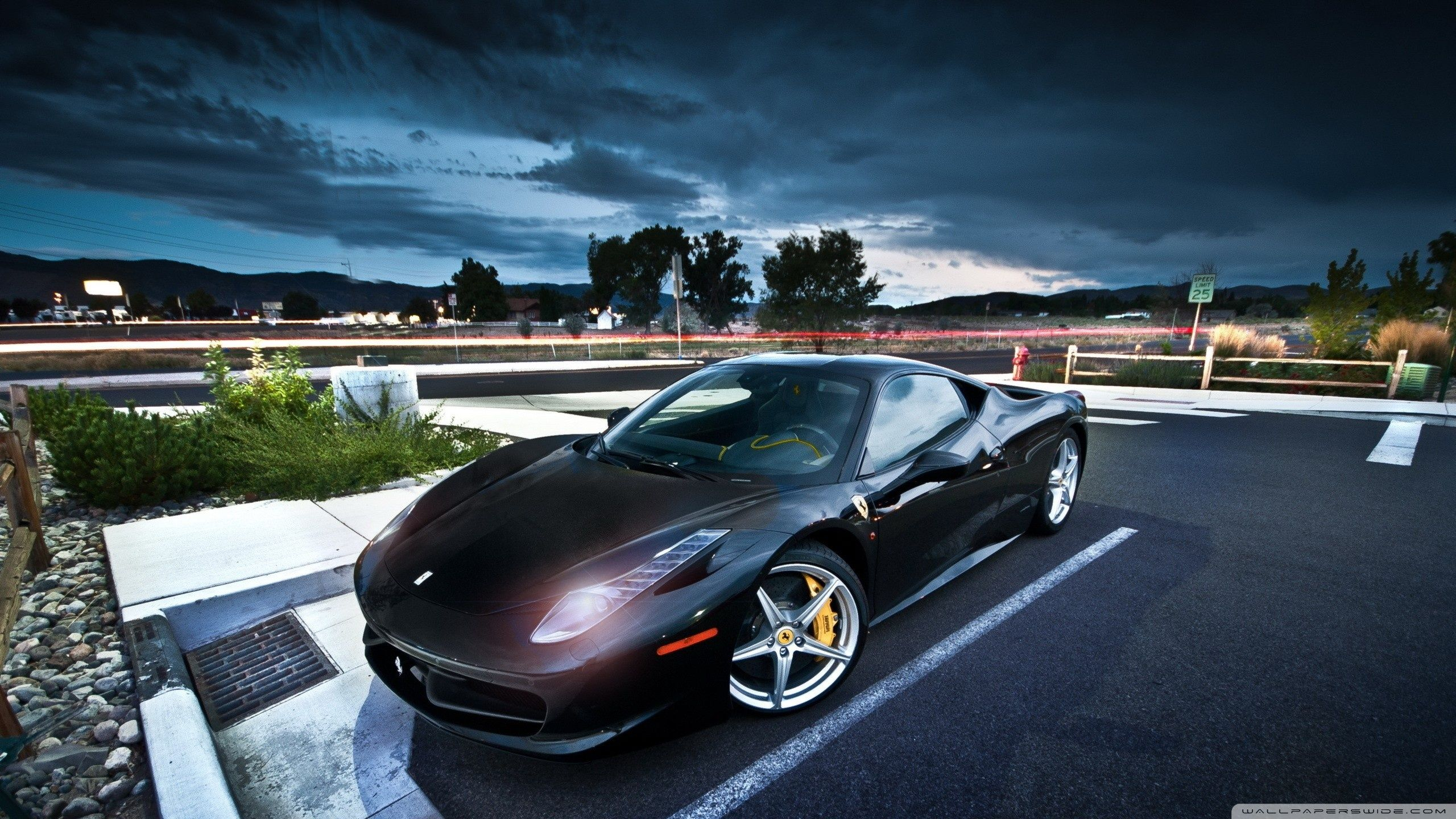 Black Ferrari Wallpapers Top Free Black Ferrari Backgrounds Wallpaperaccess