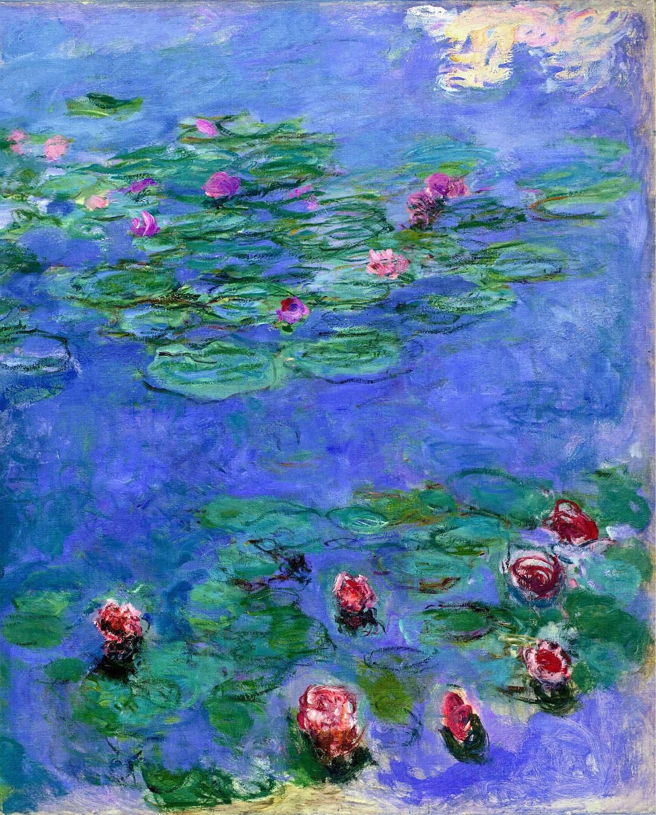 1289x1600 Monet Water Lilies hình nền
