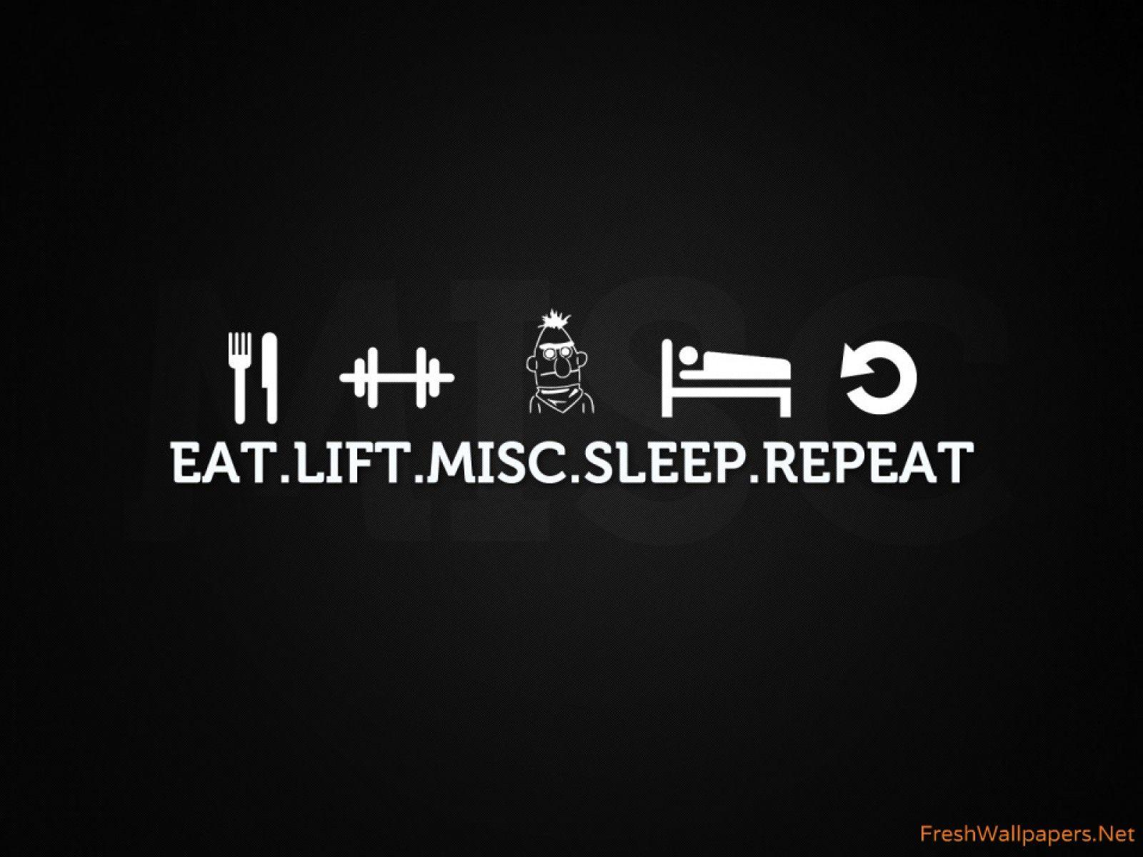 Eat Sleep Gym Repeat Wallpaper