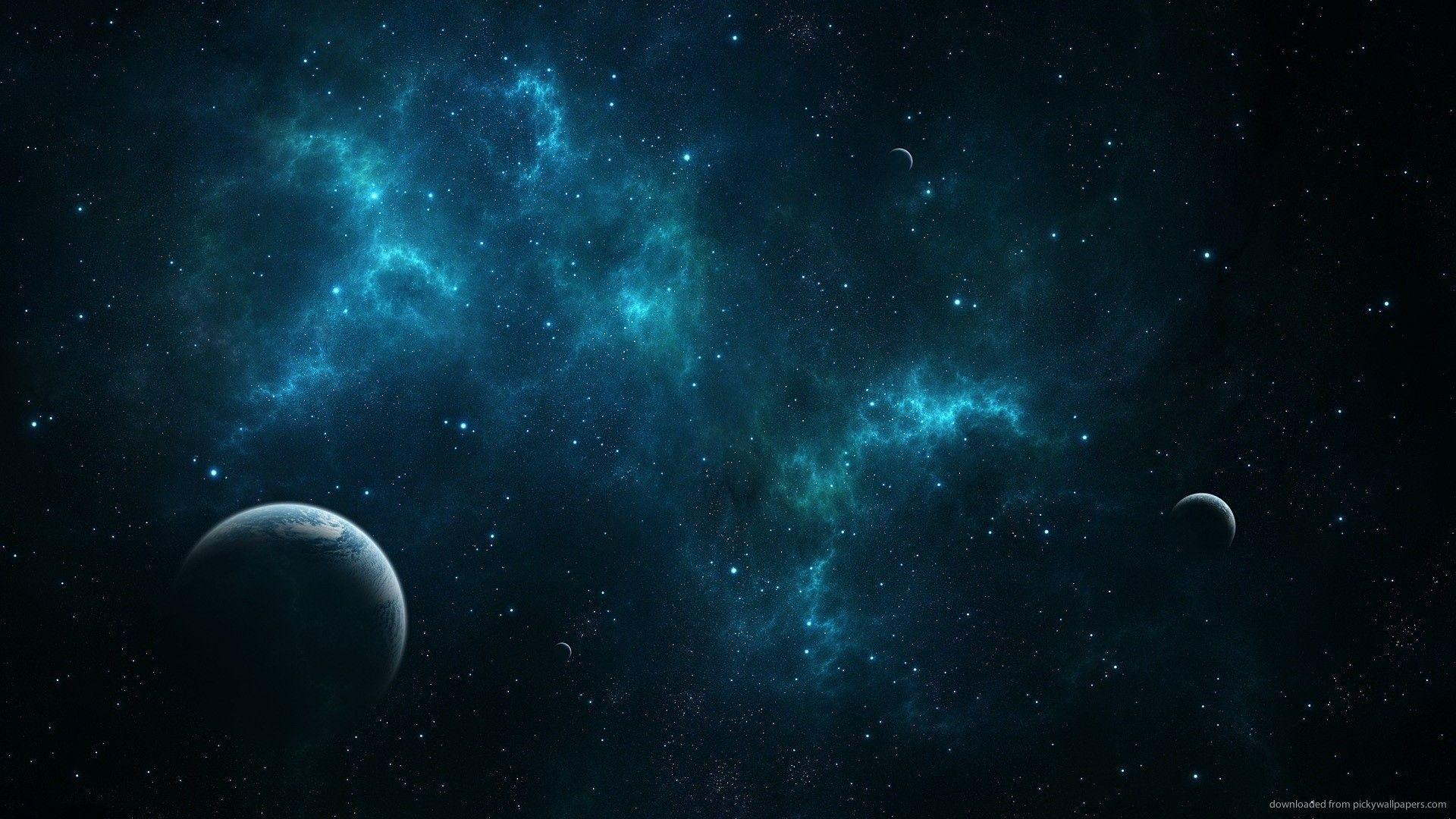 Blue Space Wallpapers Top Free Blue Space Backgrounds