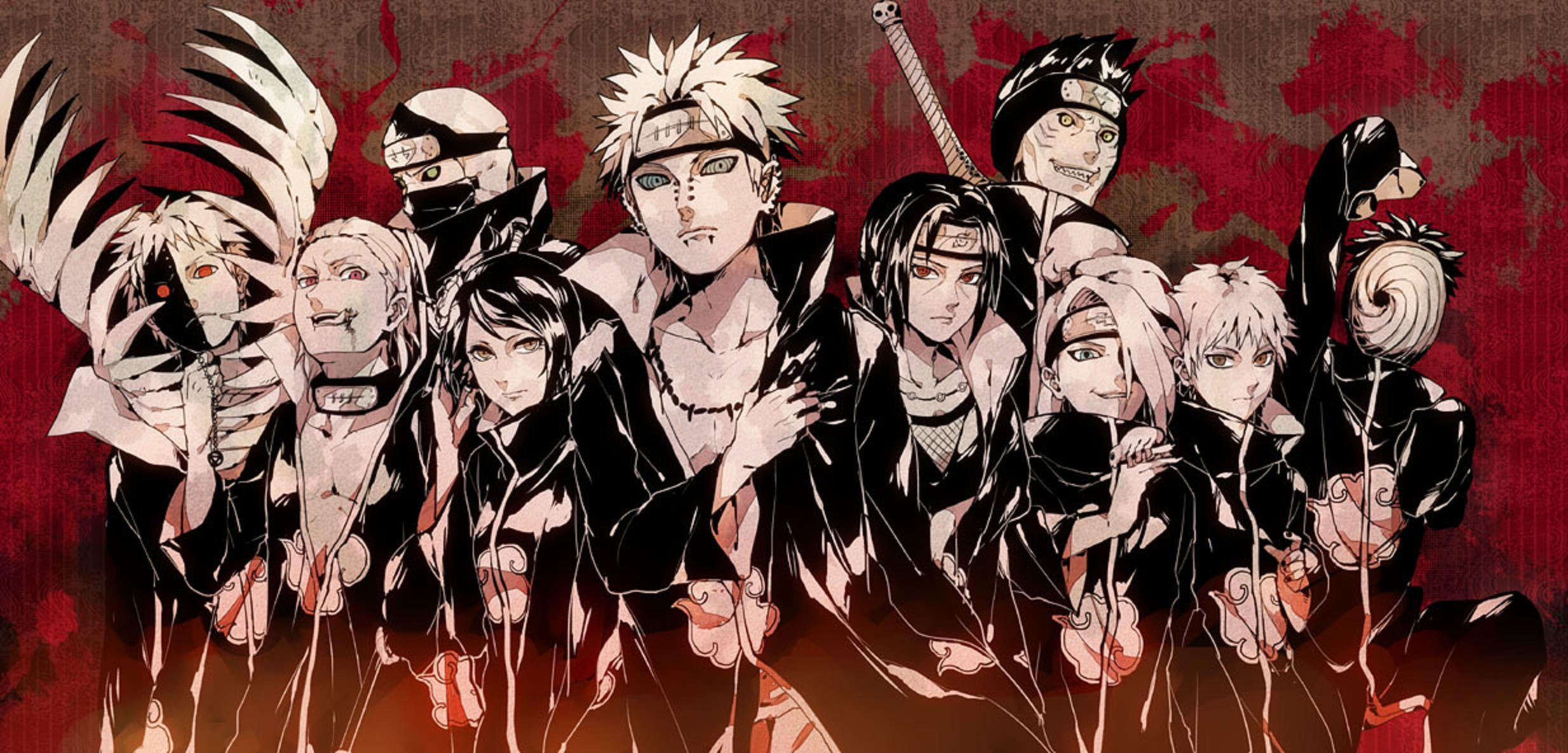 Naruto Akatsuki Wallpapers Top Free Naruto Akatsuki Backgrounds Wallpaperaccess