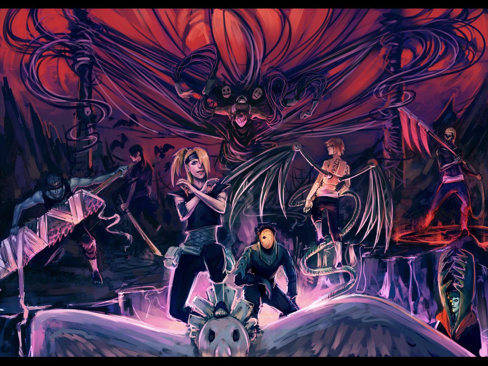 Naruto Akatsuki Wallpapers Top Free Naruto Akatsuki Backgrounds Wallpaperaccess