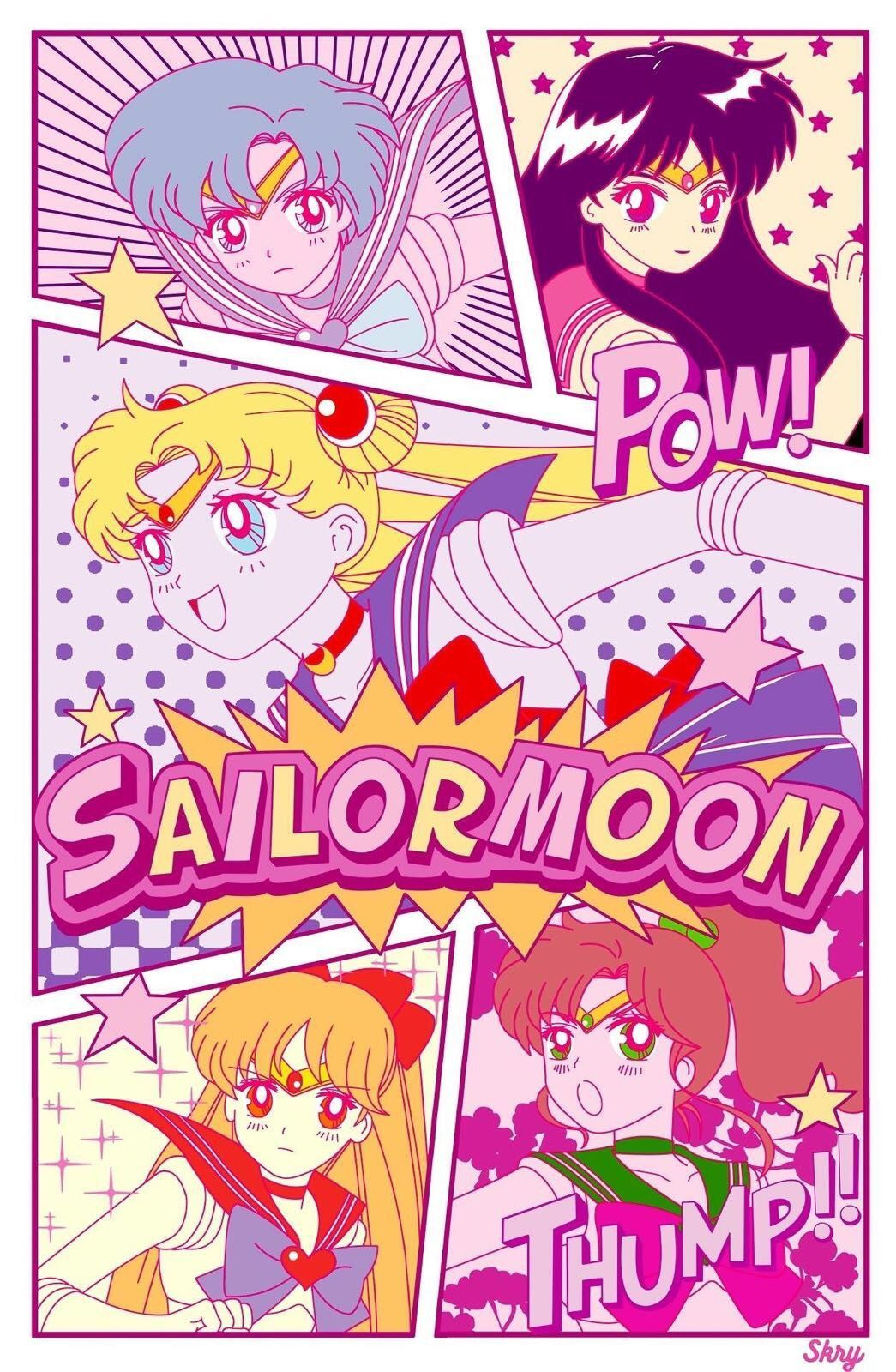 Aesthetic Sailor Moon Wallpapers Top Free Aesthetic Sailor Moon Backgrounds Wallpaperaccess