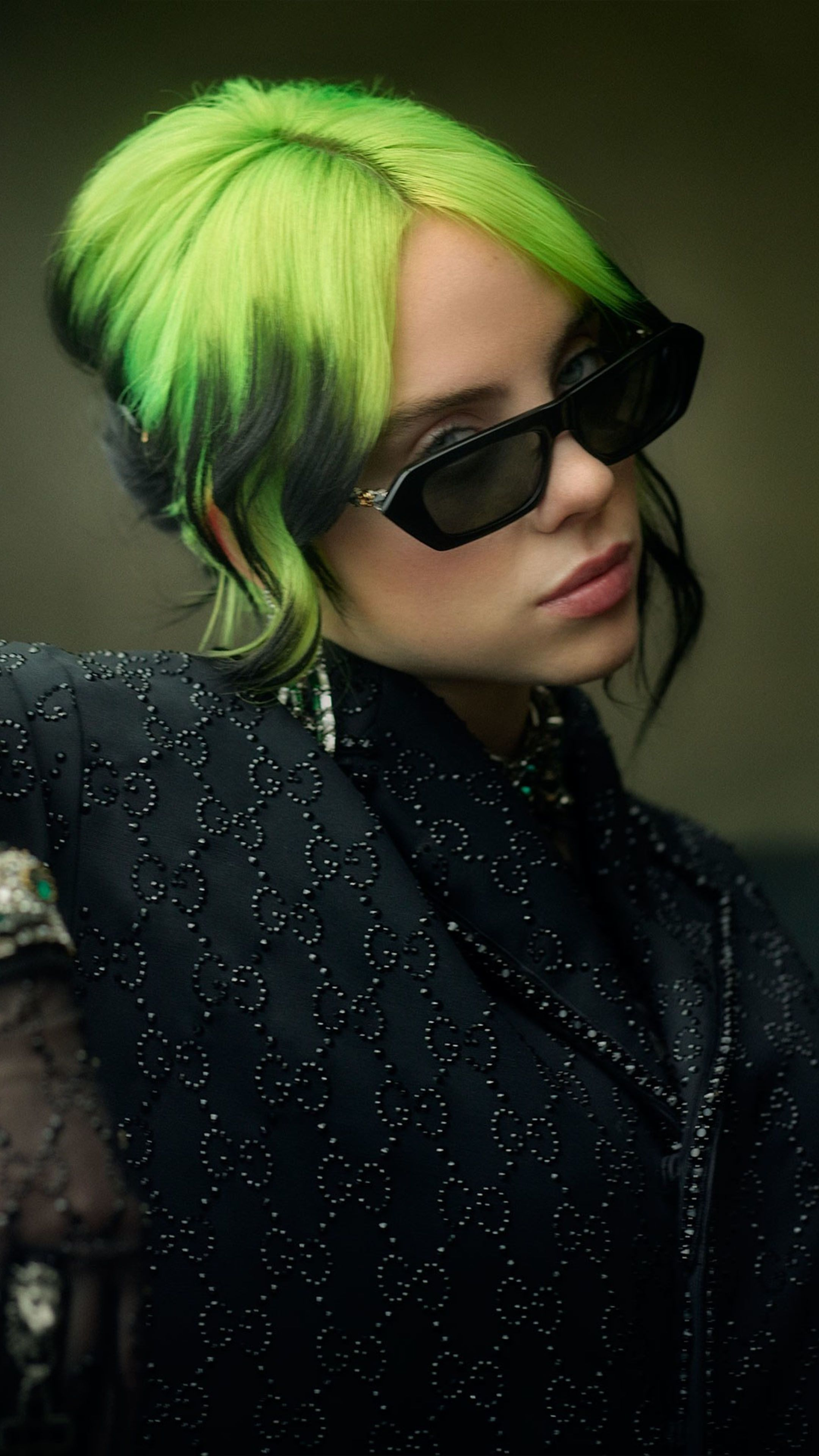 Billie Eilish Green Hair Wallpapers Top Free Billie Eilish Green Hair Backgrounds Wallpaperaccess
