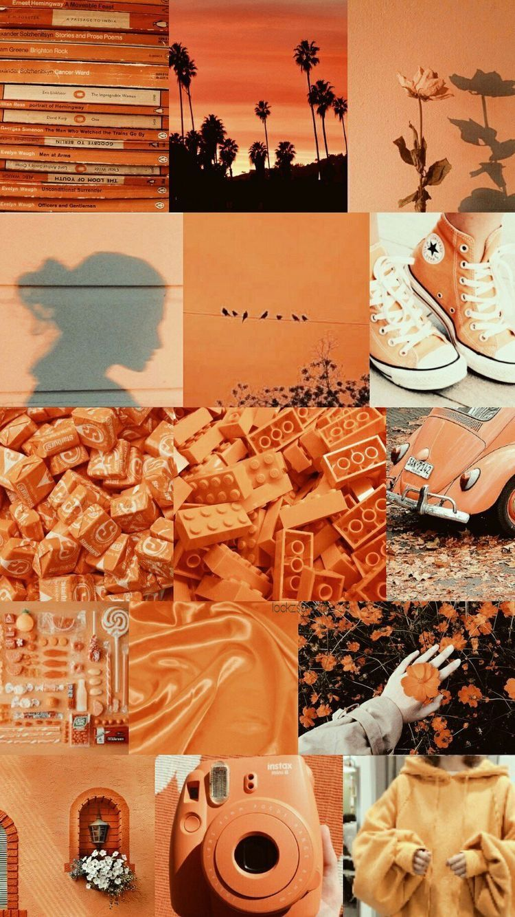 Orange Collage Wallpapers Top Free Orange Collage Backgrounds Wallpaperaccess