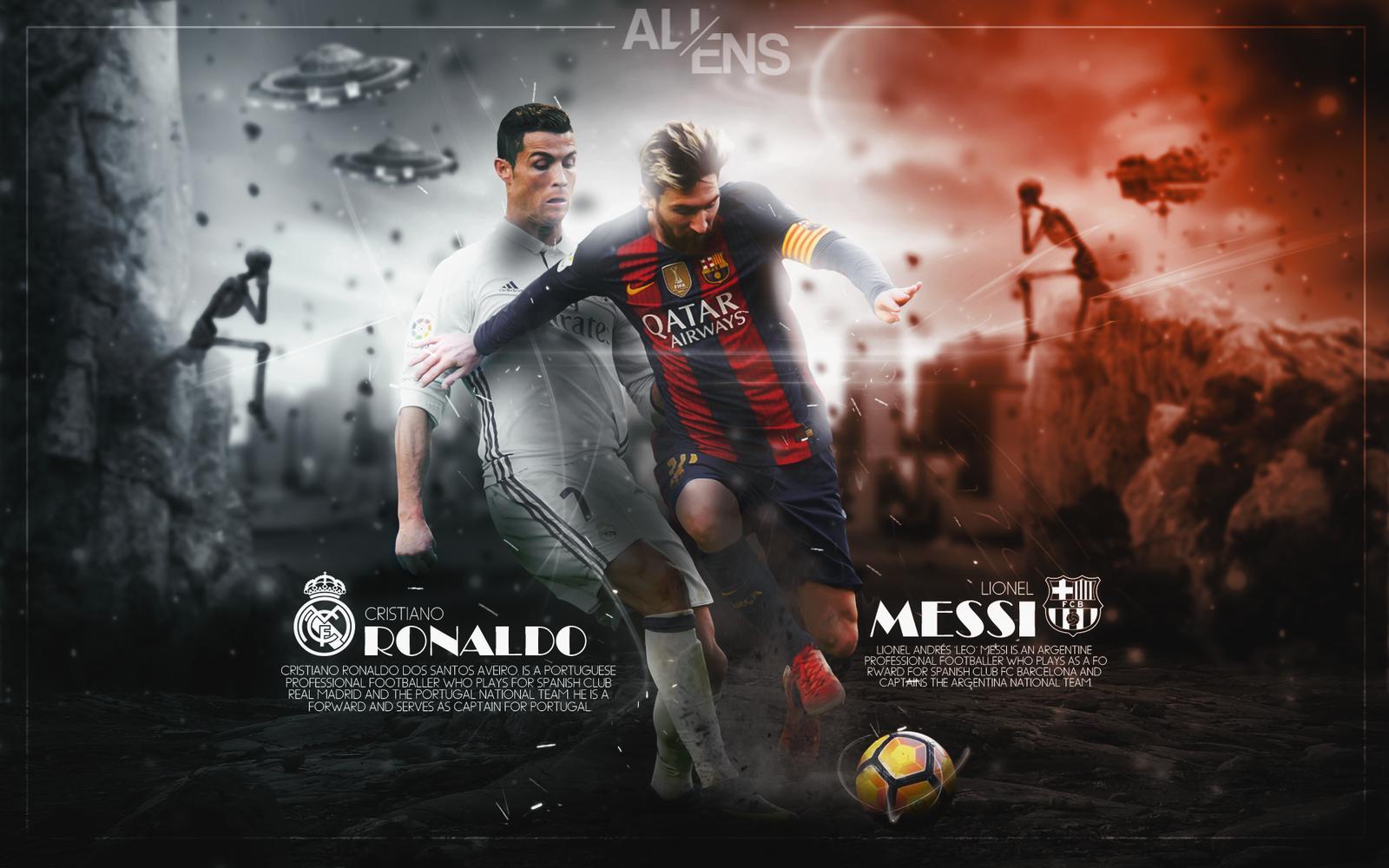 Messi Ronaldo Wallpapers Top Free Messi Ronaldo Backgrounds Wallpaperaccess