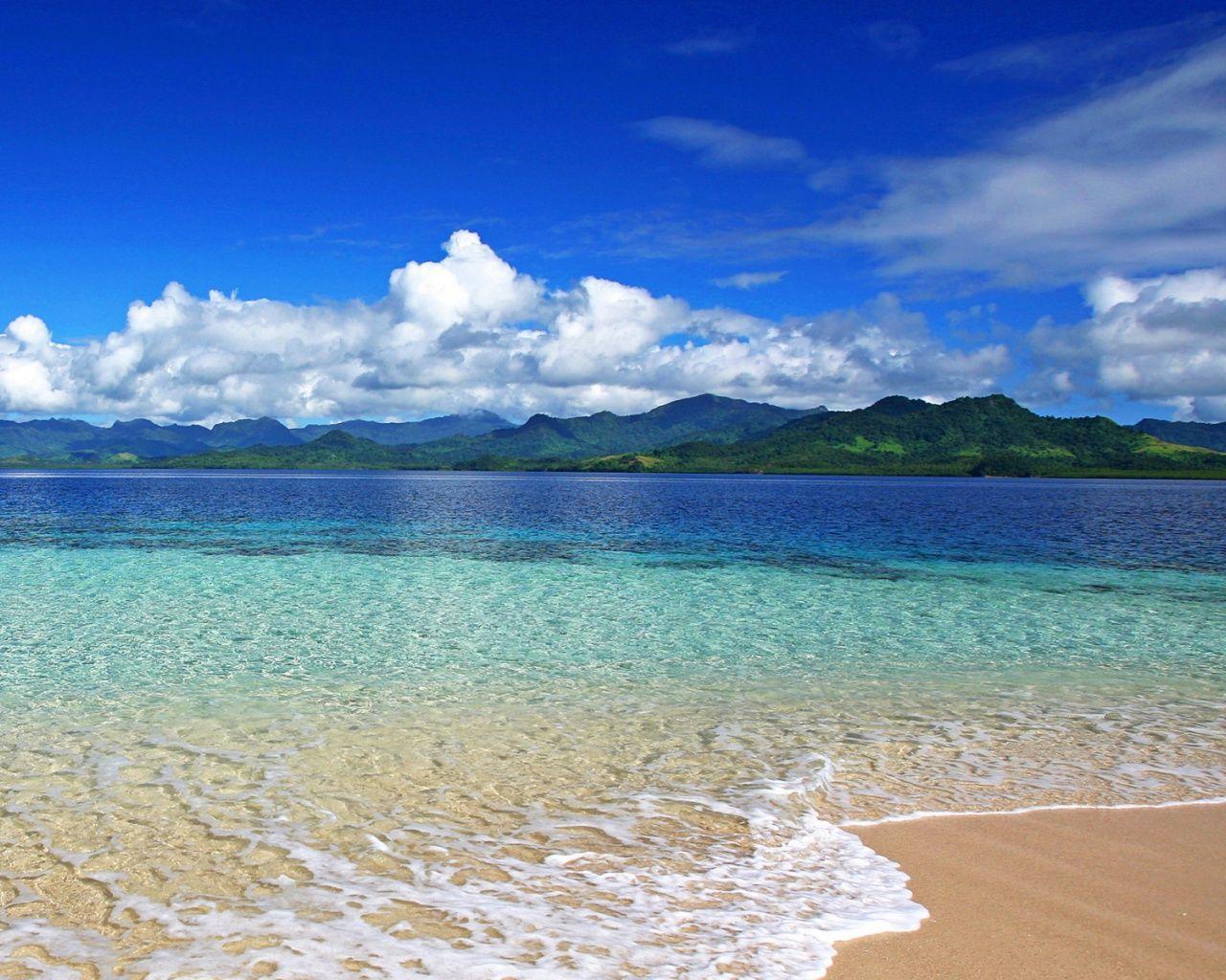 1280x1024 Wonderful Ocean Island Beach Hình nền máy tính để bàn PC và Mac