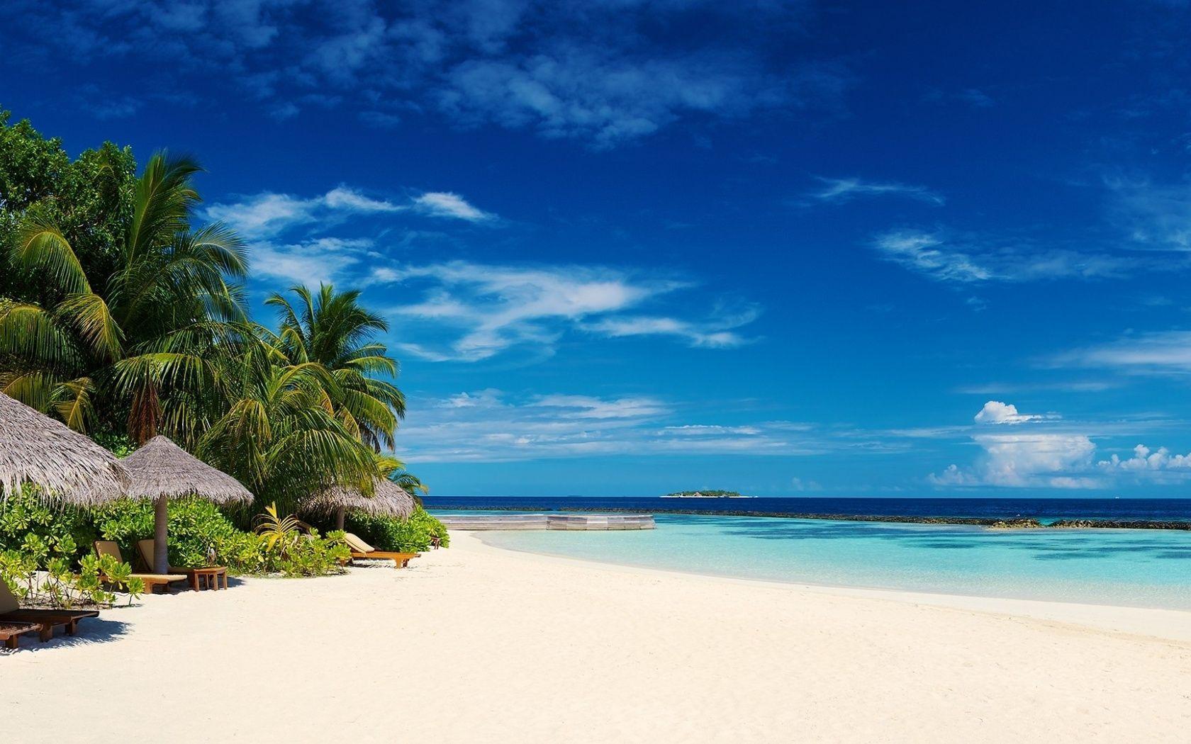 1680x1050 Tropical Maldives Island Beach Hình nền máy tính để bàn PC và Mac