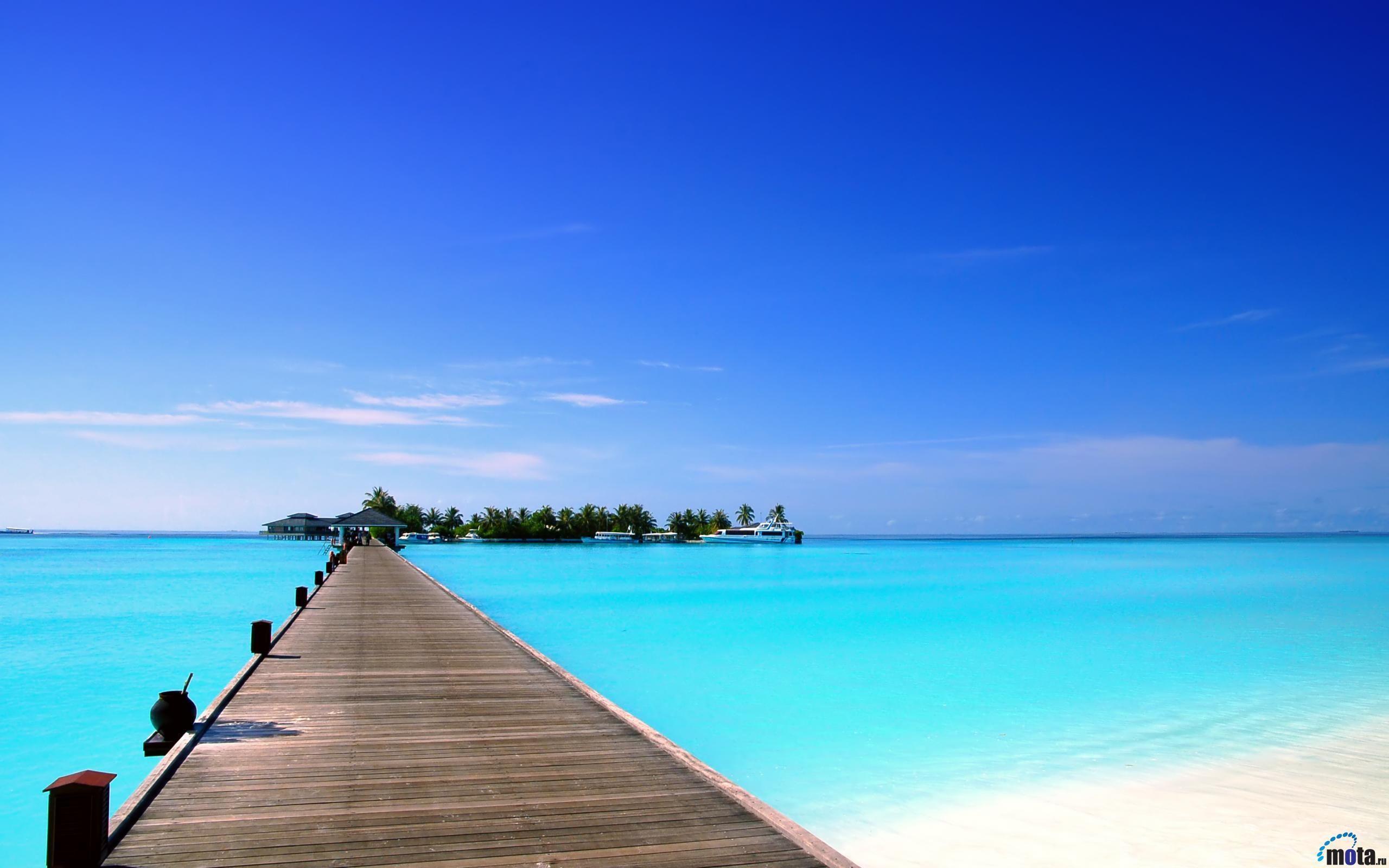Hình nền quần đảo Maldive miễn phí 2560x1600