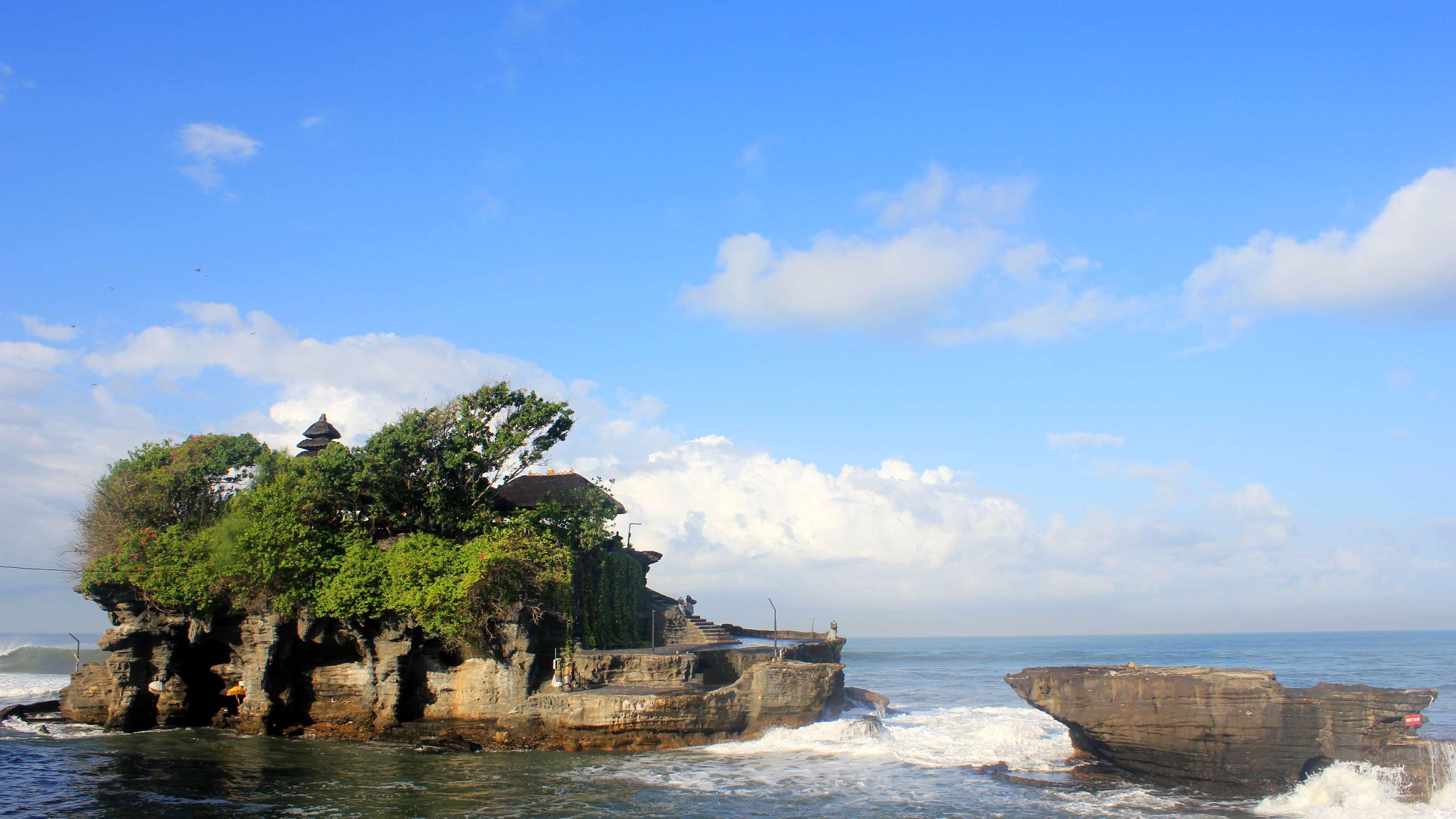 3456x1944 Bali, đảo Bali, bờ biển, Budha, Tanah lot Hình nền HD Hình nền máy tính để bàn