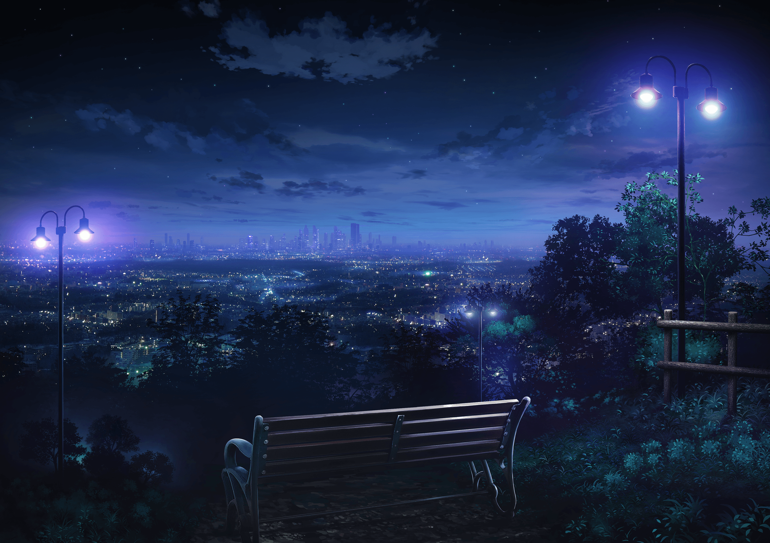 Anime Night City Wallpapers - Top Free
