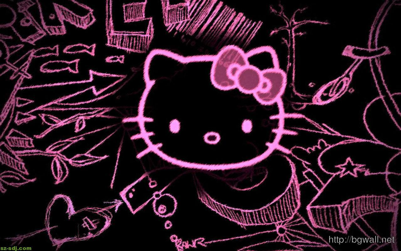 70 Best Free Black Hello Kitty Wallpapers Wallpaperaccess