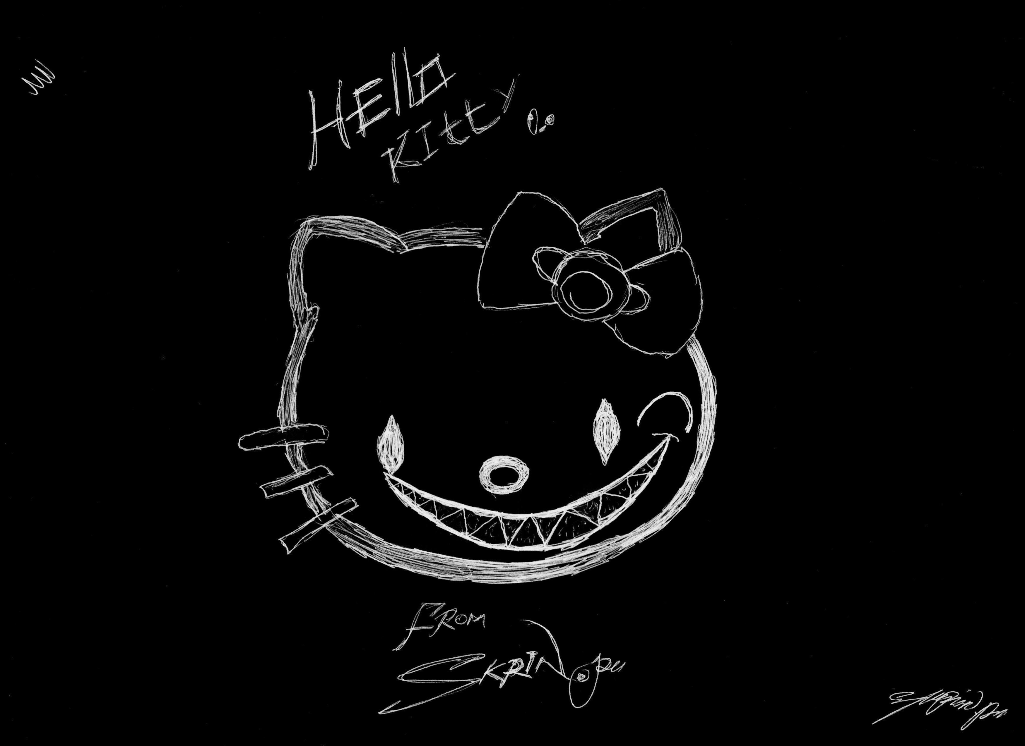 dark hello kitty