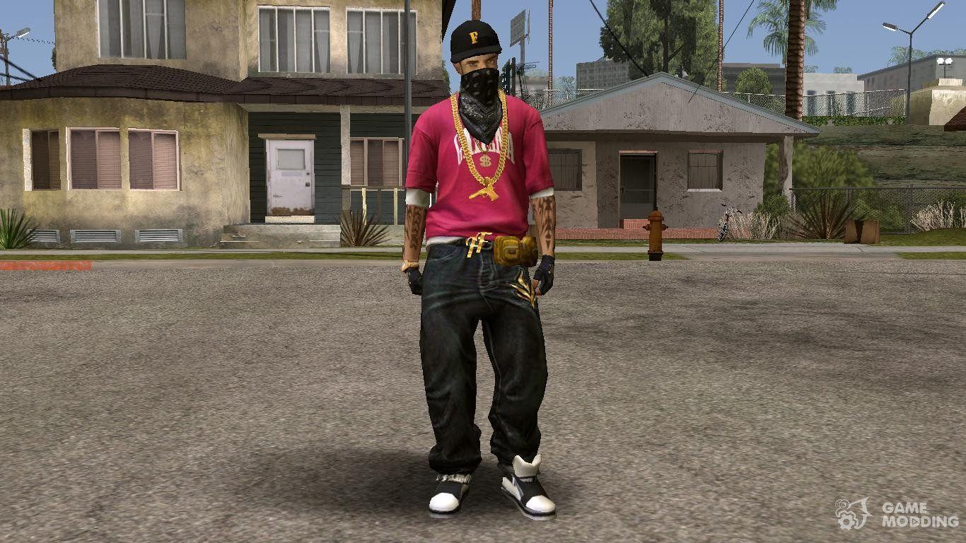 1366x768 Hip Hop Free Fire Skin cho GTA San Andreas