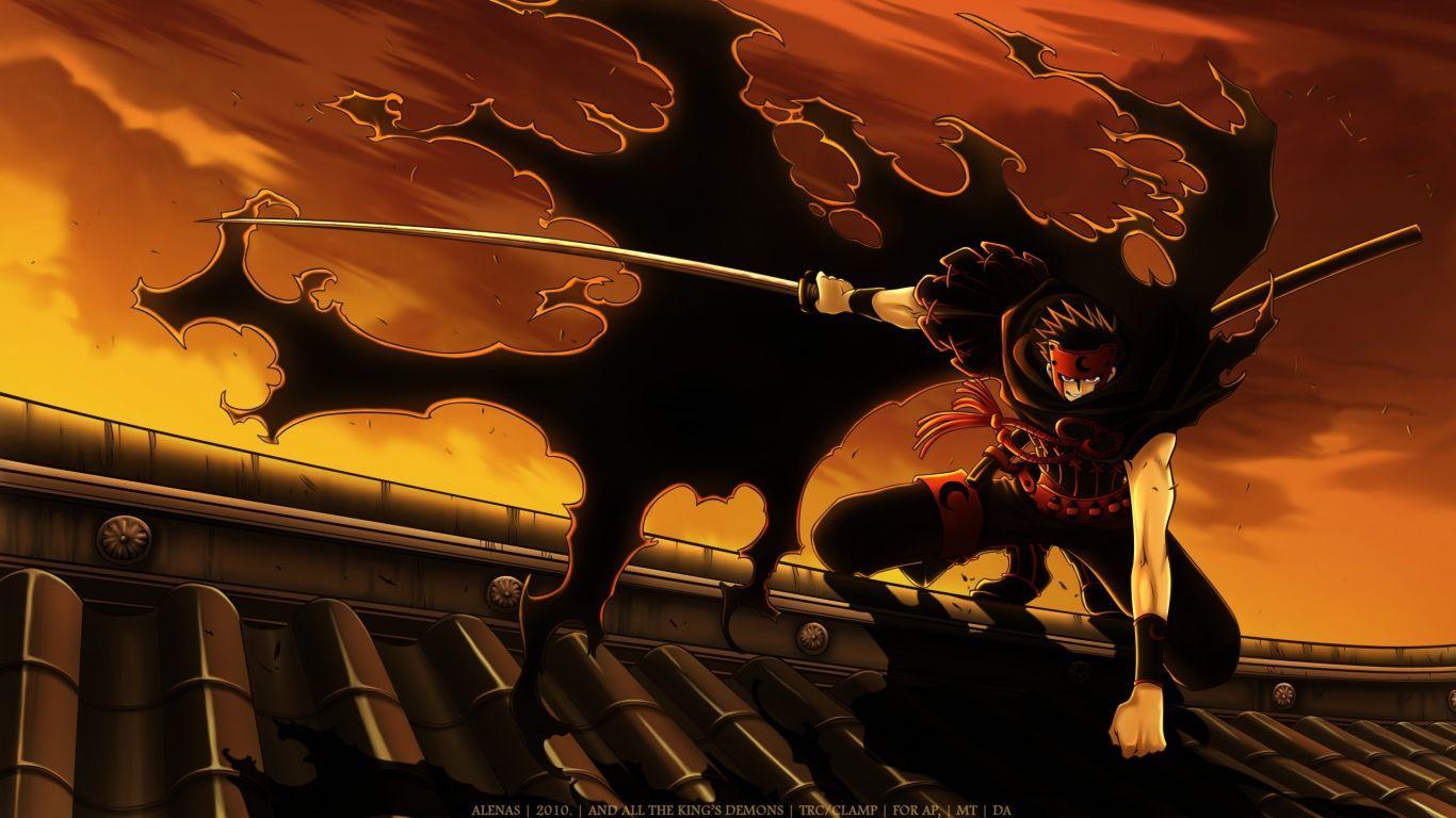 1366x768 HD Nền Tsubasa Reservoir Chronicle Kurogane Katana Anime