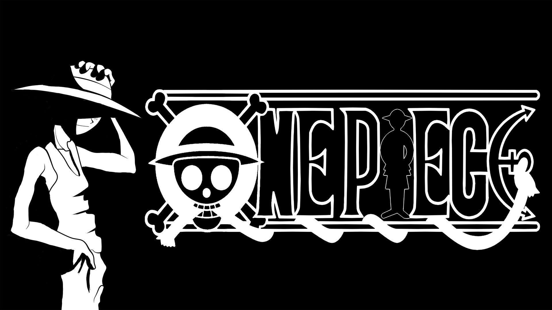 1920x1080 Desktop One Piece Anime Đen Trắng Cho Trên Hình Nền Full HD