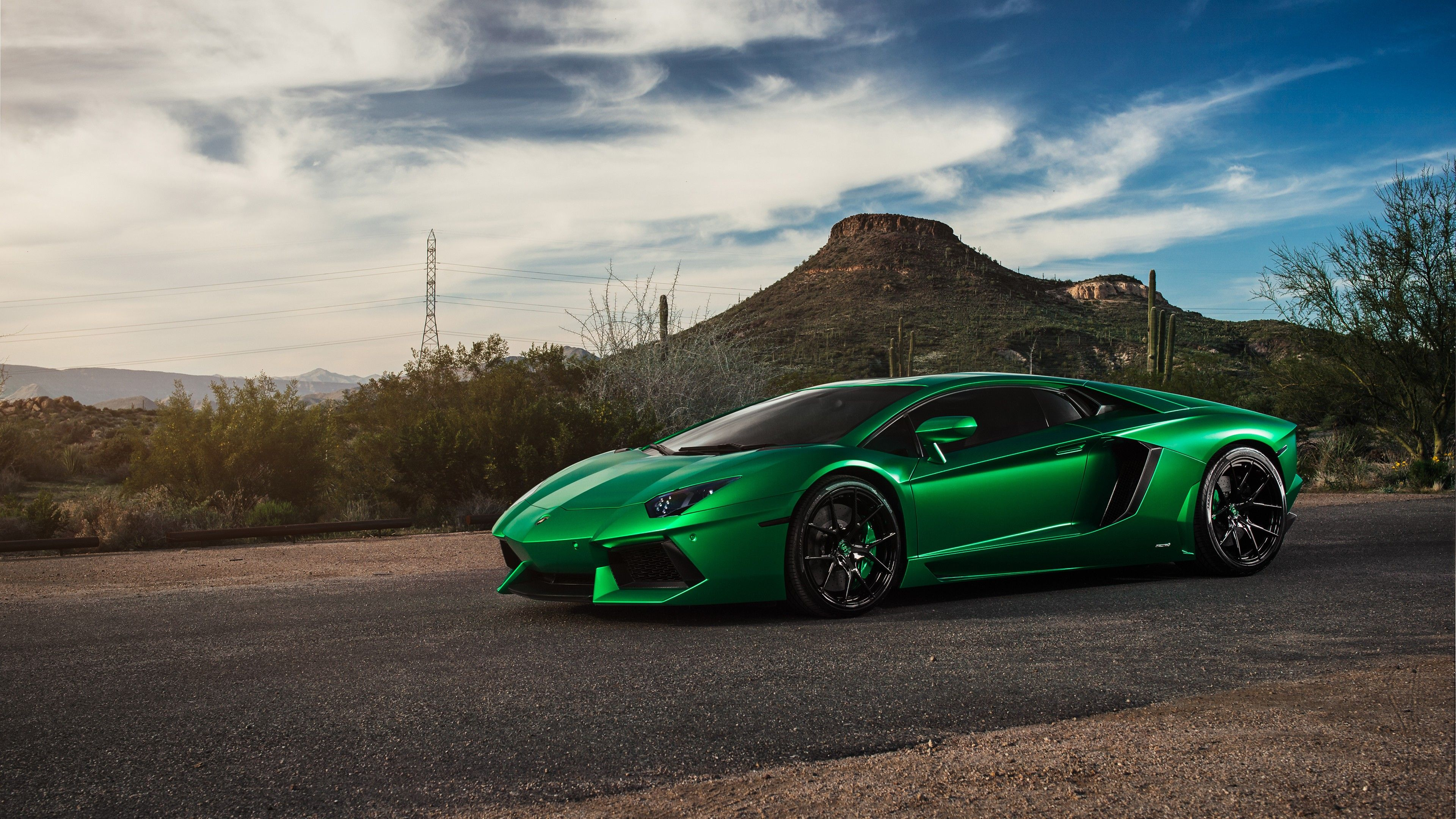 Lamborghini Aventador Green 4k Hd Cars 4k Wallpapers: Top Free 4K Green Backgrounds