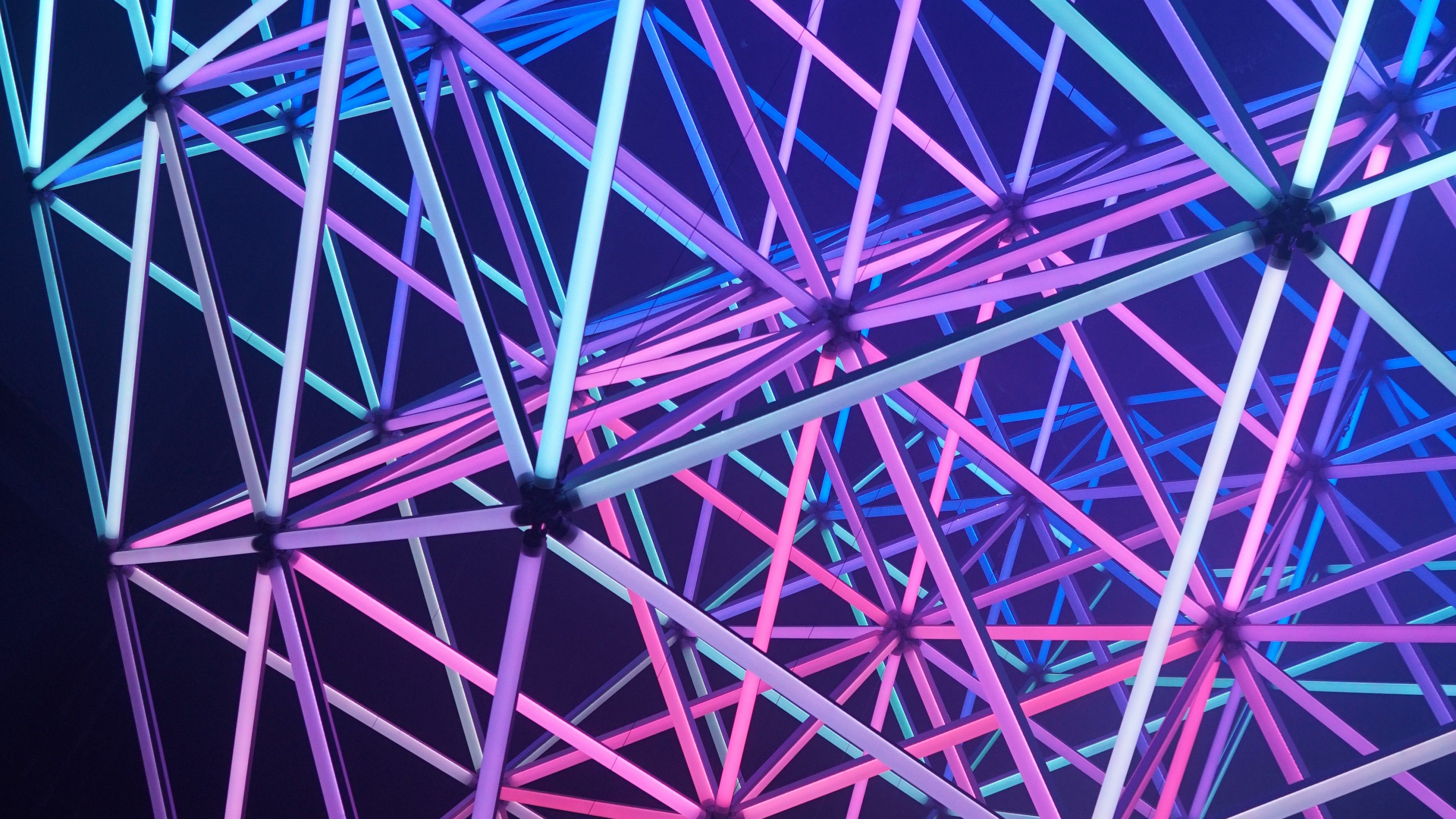 amoled neon android wallpaperaccess wallpapers triangles structure 4k abstract desktop iphone mobile