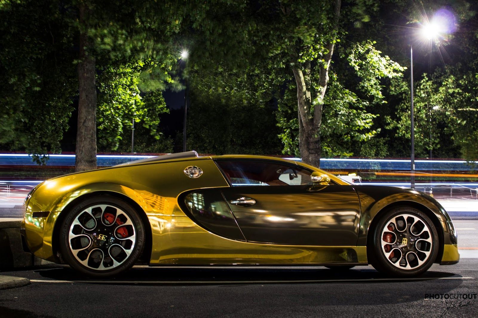 Gold Car Wallpapers: Gold Bugatti Veyron Car Wallpapers