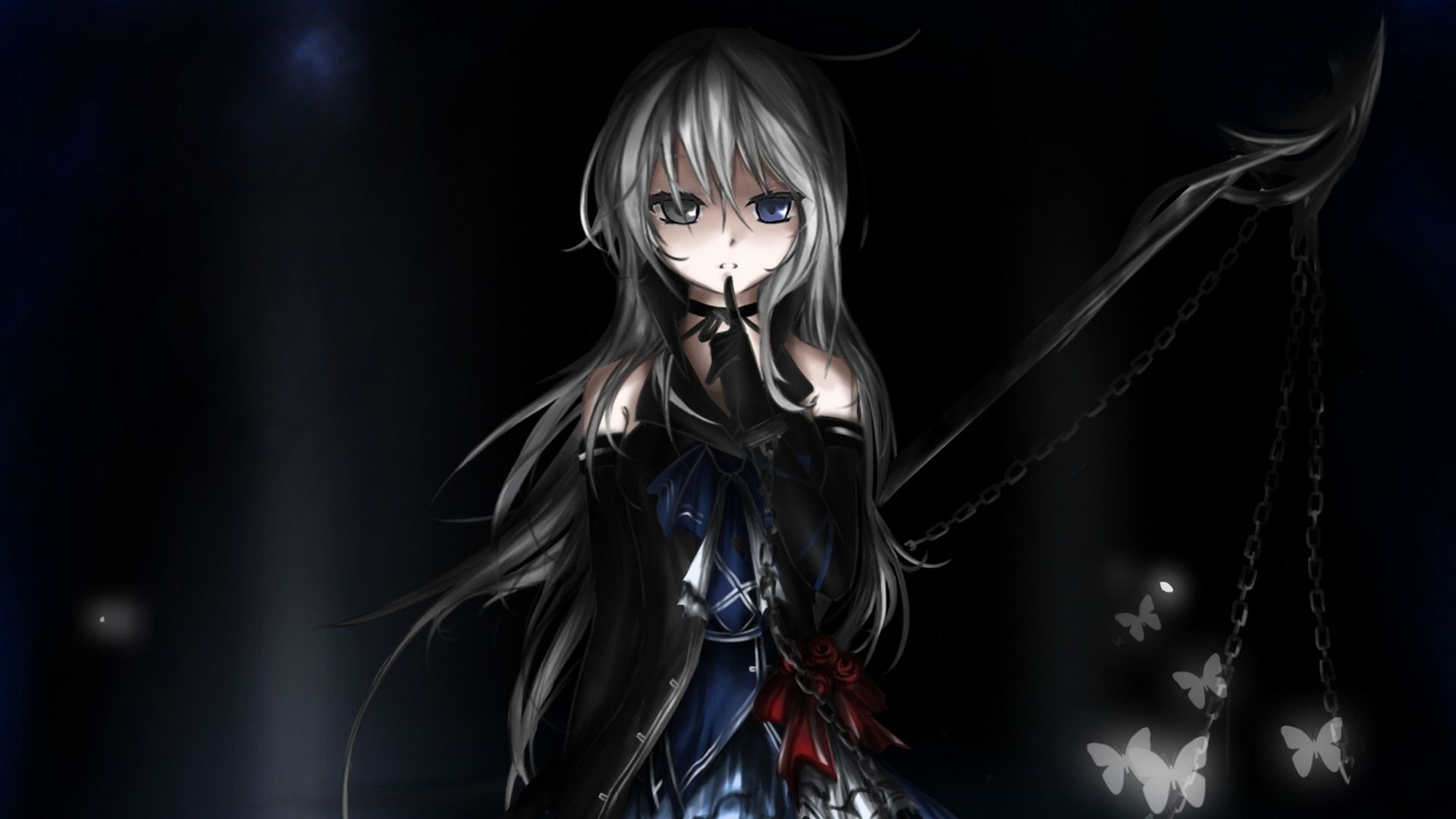 1920x1200 dark anime girl walldevil