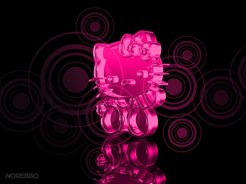 Hello Kitty Pink Glow Hd Wallpapers Pc