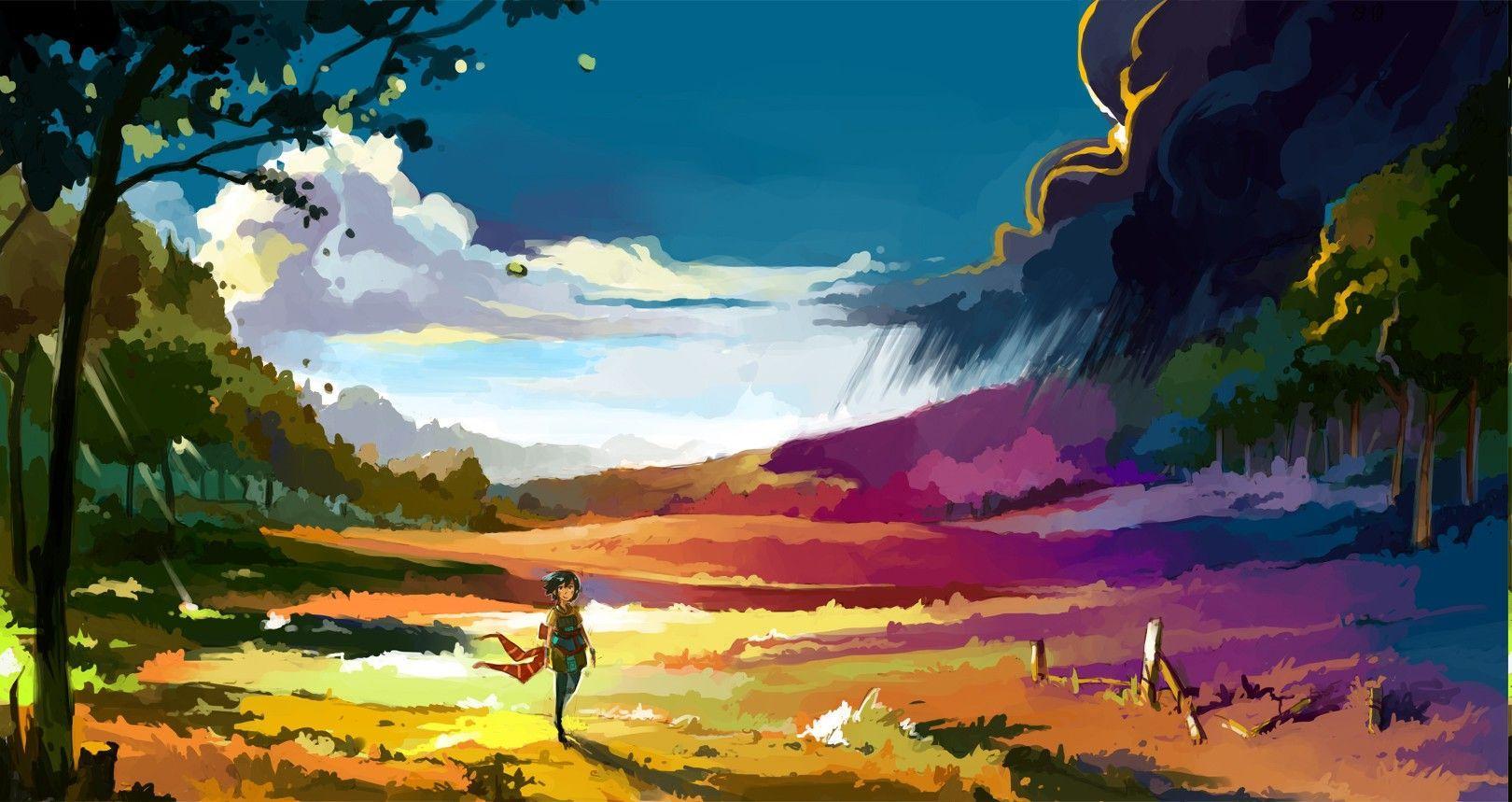Anime Landscape Wallpapers - Top Free Anime Landscape ...