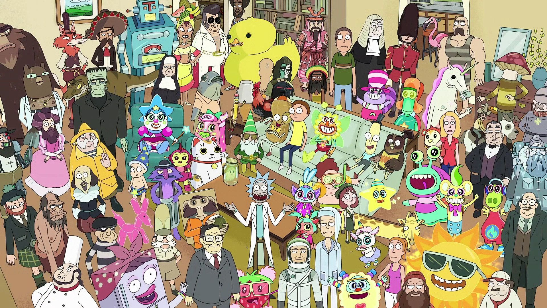 Rick And Morty Characters Wallpapers Top Free Rick And Morty Characters Backgrounds Wallpaperaccess
