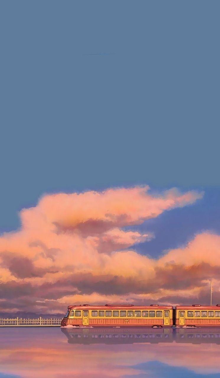 745x1280 Hình ảnh về màu xanh lam trong Anime thẩm mỹ của と か