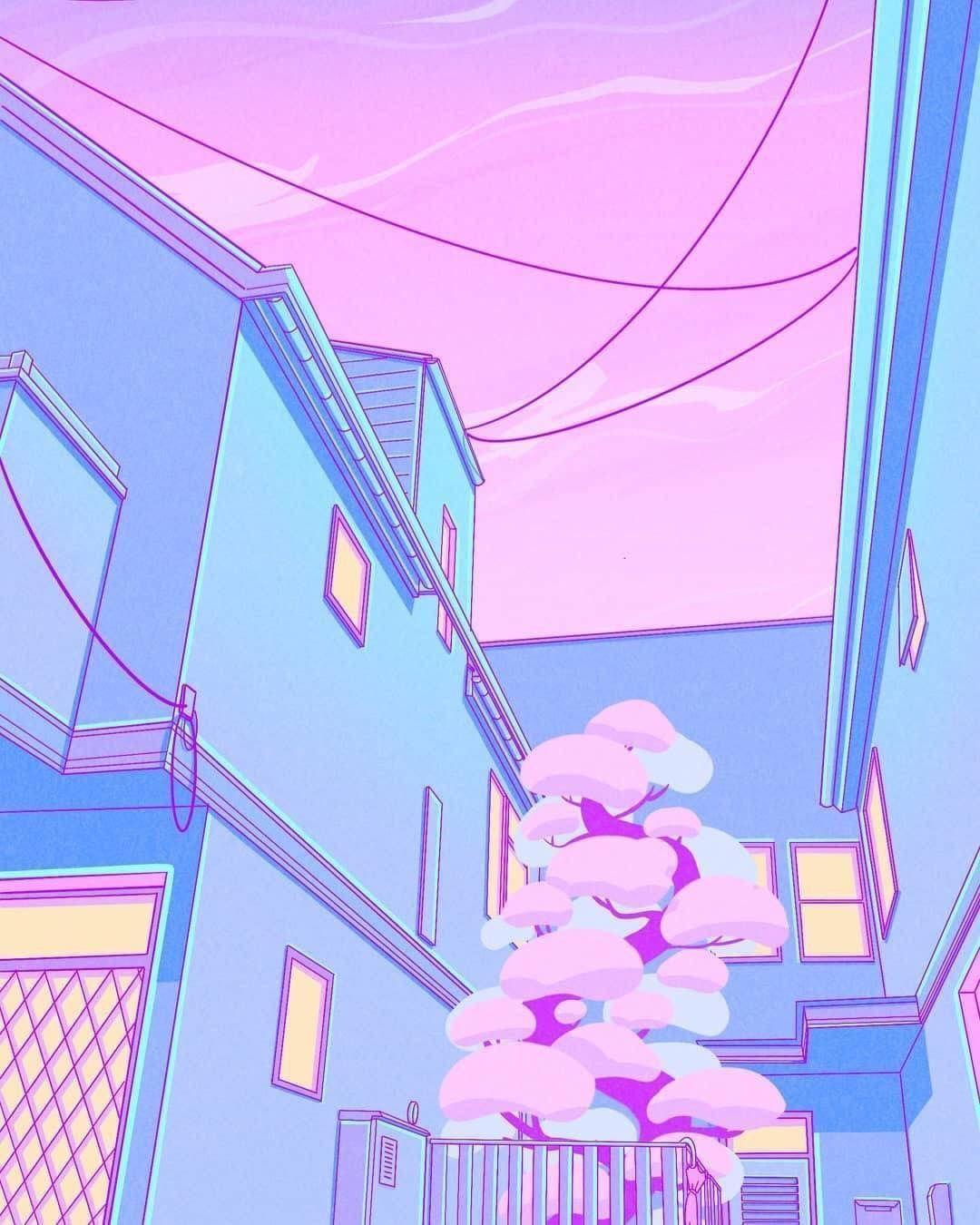 Ghiblistudio 1080x1350.  Tranh thẩm mỹ, Thẩm mỹ màu phấn, Giấy dán tường màu phấn thẩm mỹ