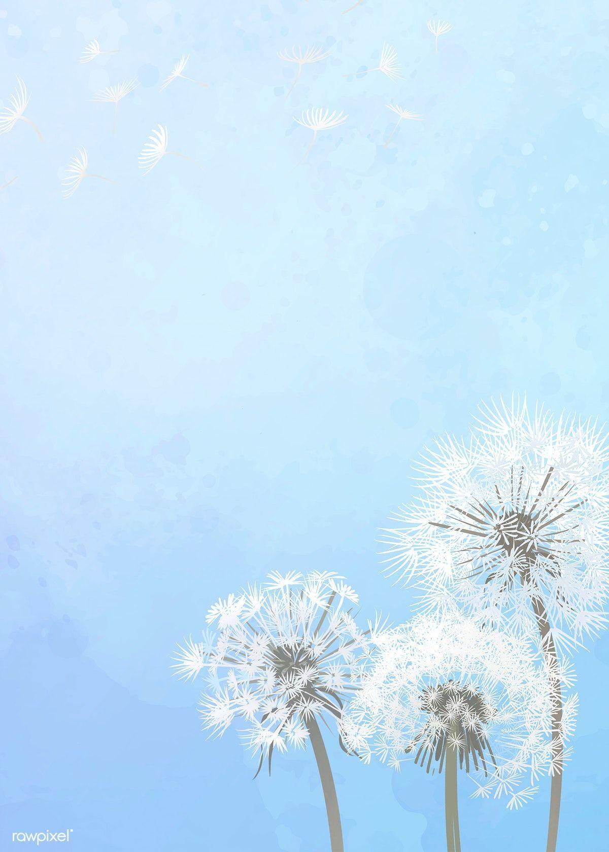 1200x1680 Tải xuống hình minh họa cao cấp của Vẽ tay bồ công anh với bầu trời xanh.  Bầu trời xanh nền, Sky anime, Sky painting