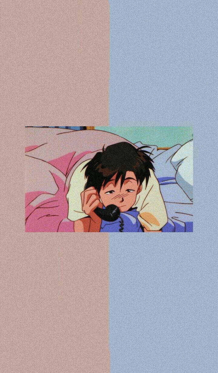 720x1232 xanh lam, anime, thẩm mỹ và nền - image
