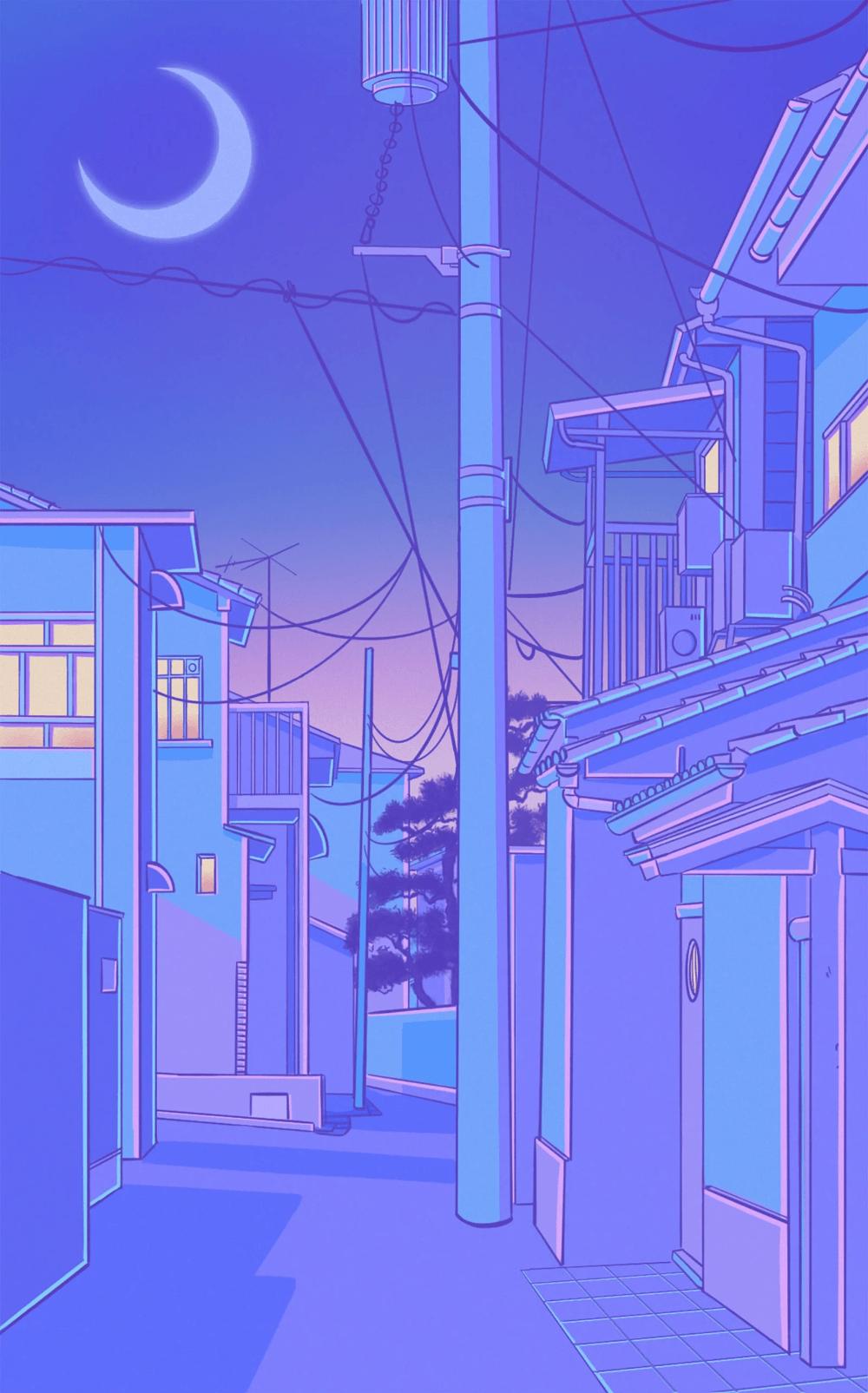 1000x1605 Tokyo Streetcapes vào năm 2020. Màu xanh pastel thẩm mỹ, Hình nền màu phấn thẩm mỹ, Hình nền thẩm mỹ