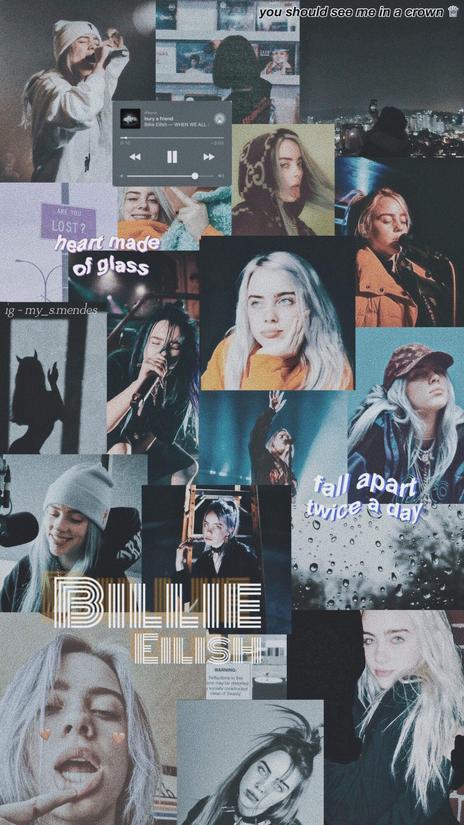 Billie Eilish Collage Wallpapers Top Free Billie Eilish Collage Backgrounds Wallpaperaccess