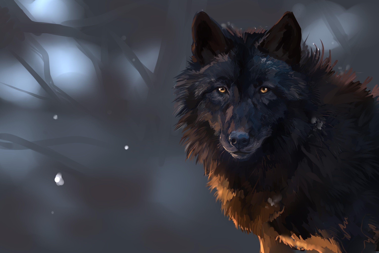 Hình nền chó sói 3000x2000 Máy tính để bàn HD.  Sói tưởng tượng & tranh
