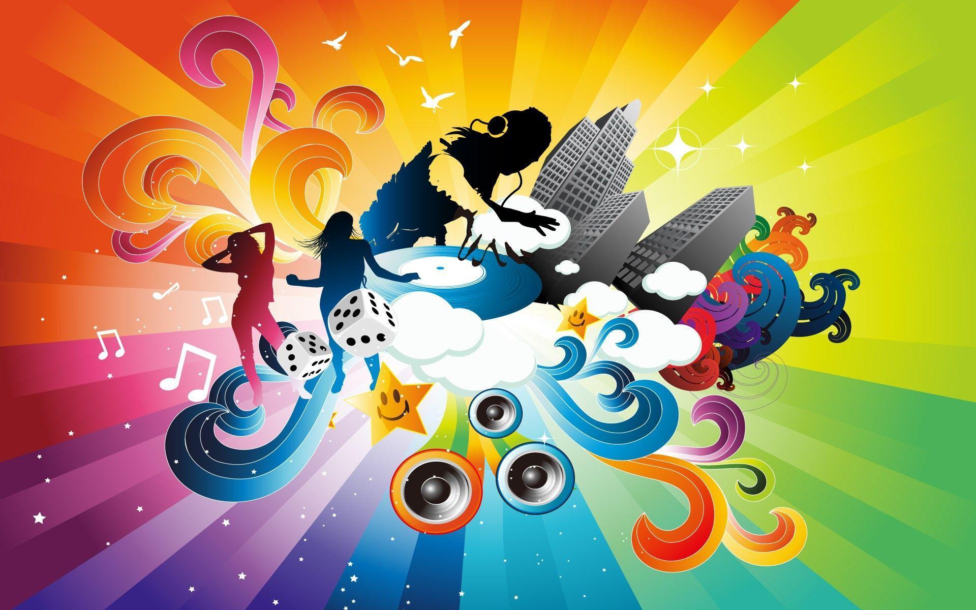 Music Abstract Art Wallpaper