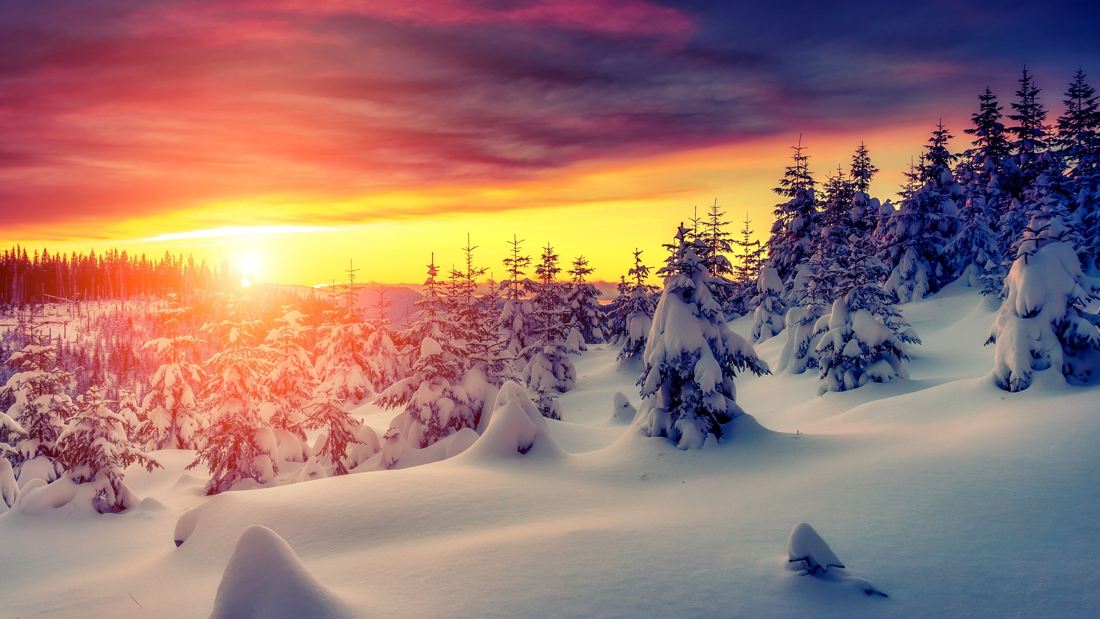 Snow 4k Wallpapers Top Free Snow 4k Backgrounds Wallpaperaccess