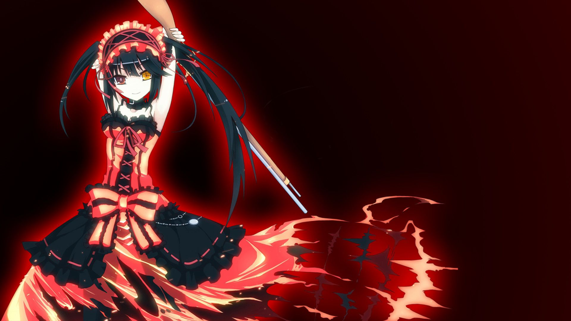 Dark Red Anime Wallpapers Top Free Dark Red Anime Backgrounds Wallpaperaccess