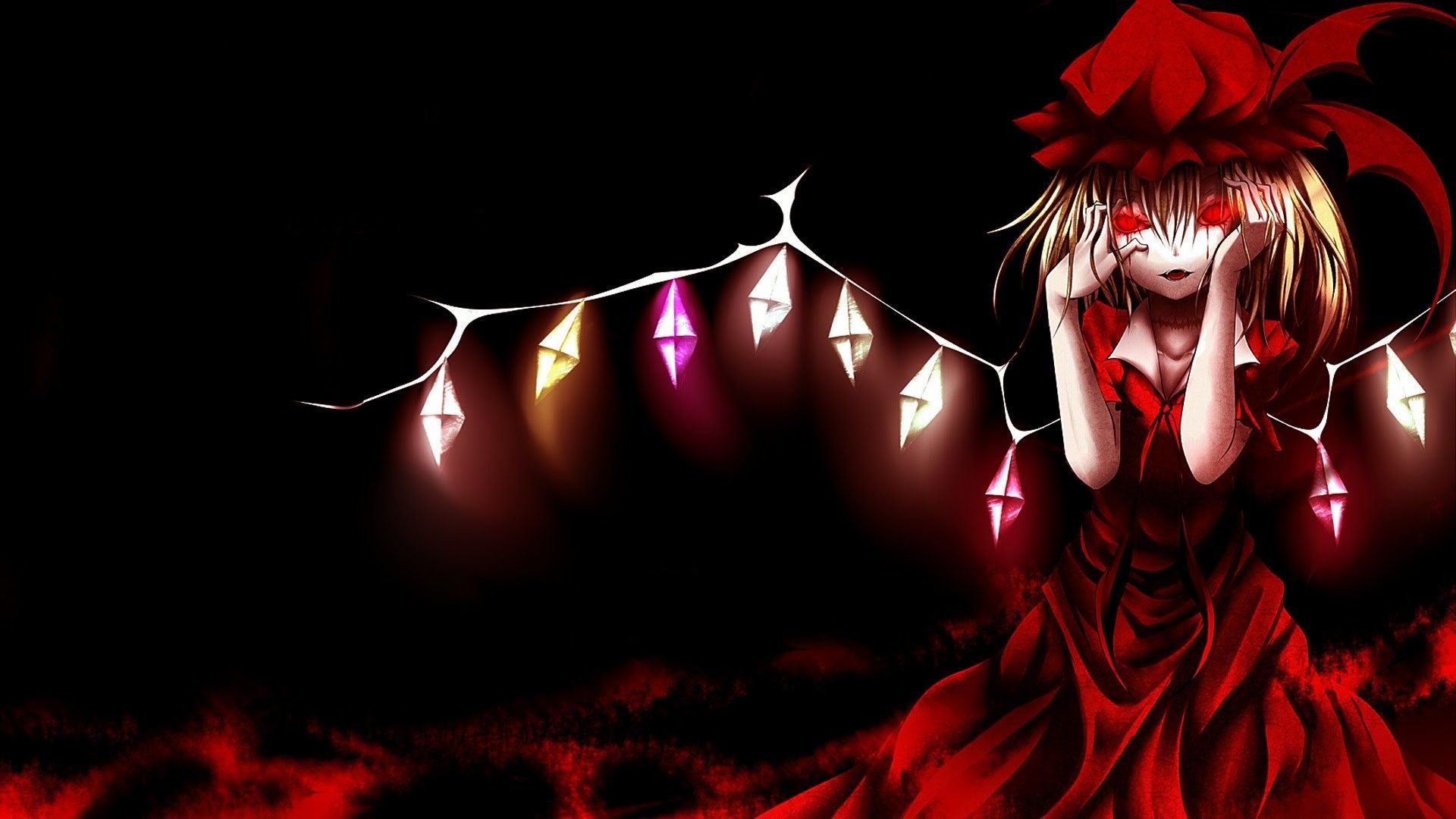 Dark red anime wallpapers top free dark red anime - Dark anime background ...