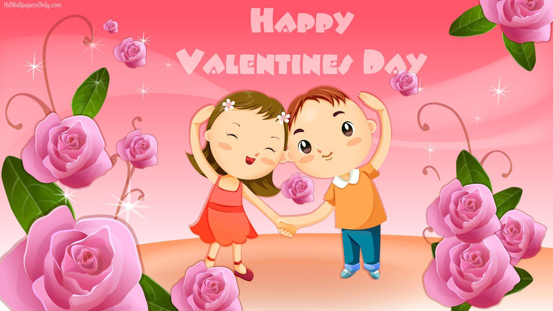 1920x1080 Cute Cartoon Valentine Day 2015 Wallpaper Imag Wallpaper