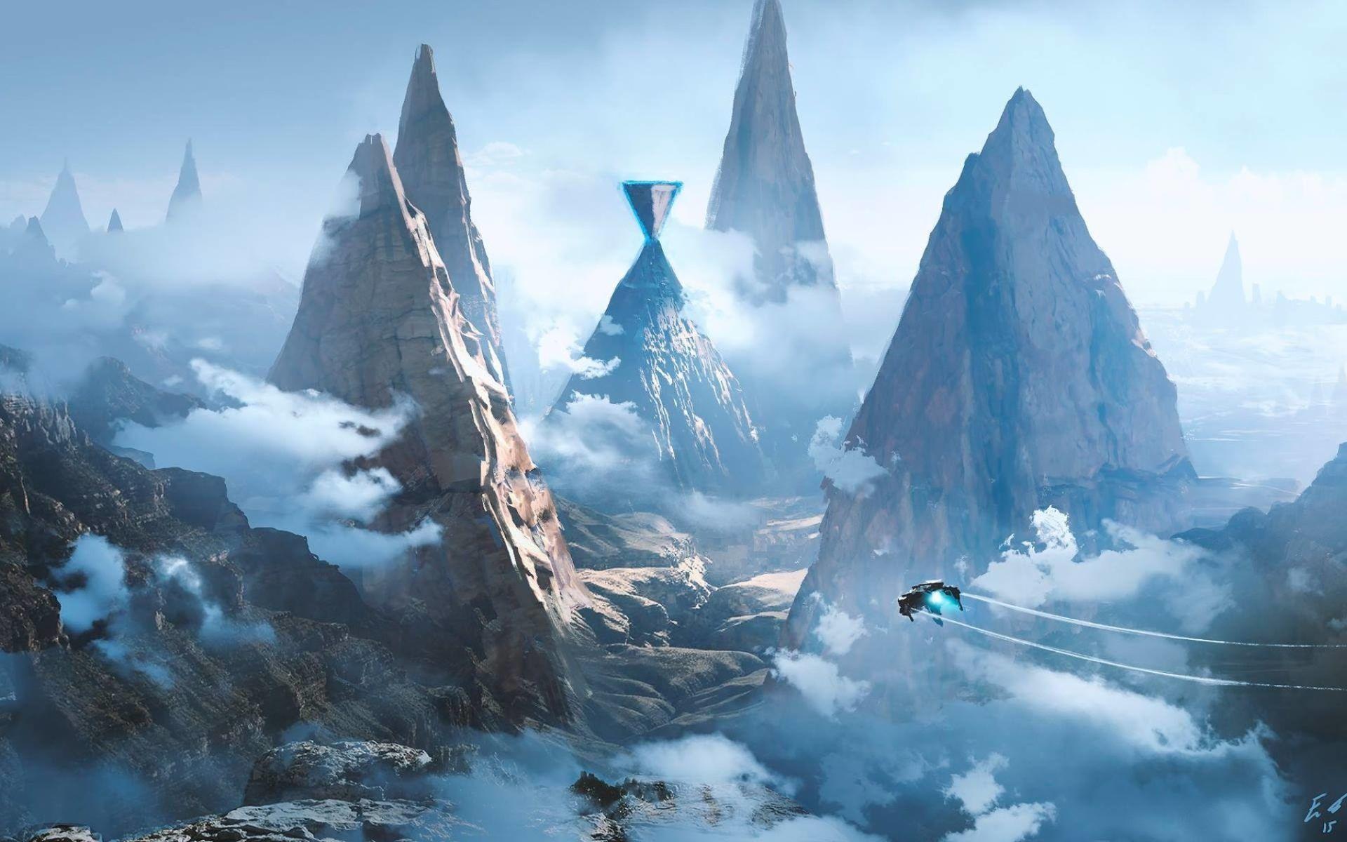 Free Sci Fi Fantasy Desktop Wallpaper: Sci-Fi Landscape Wallpapers